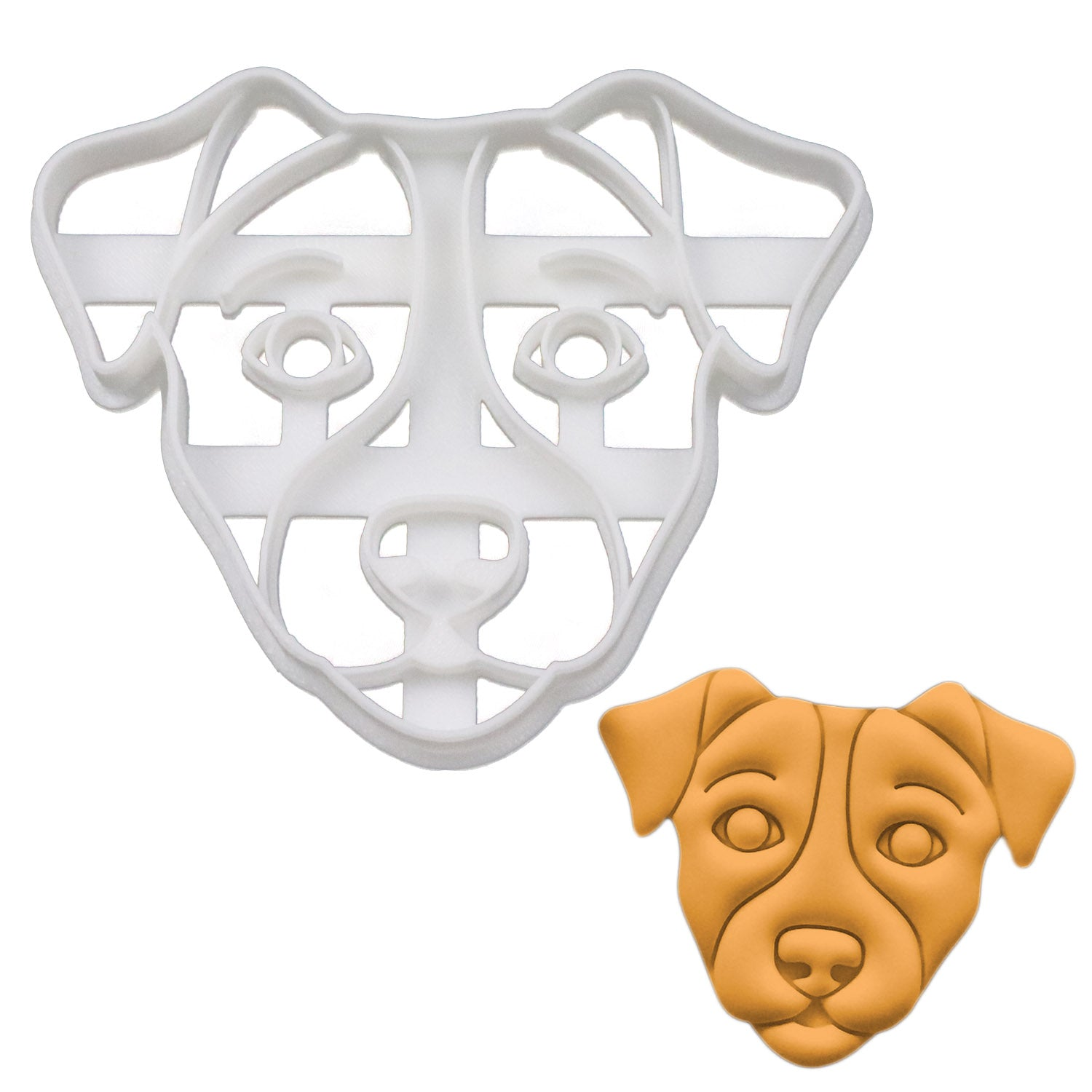 Jack russell dog face cookie cutter