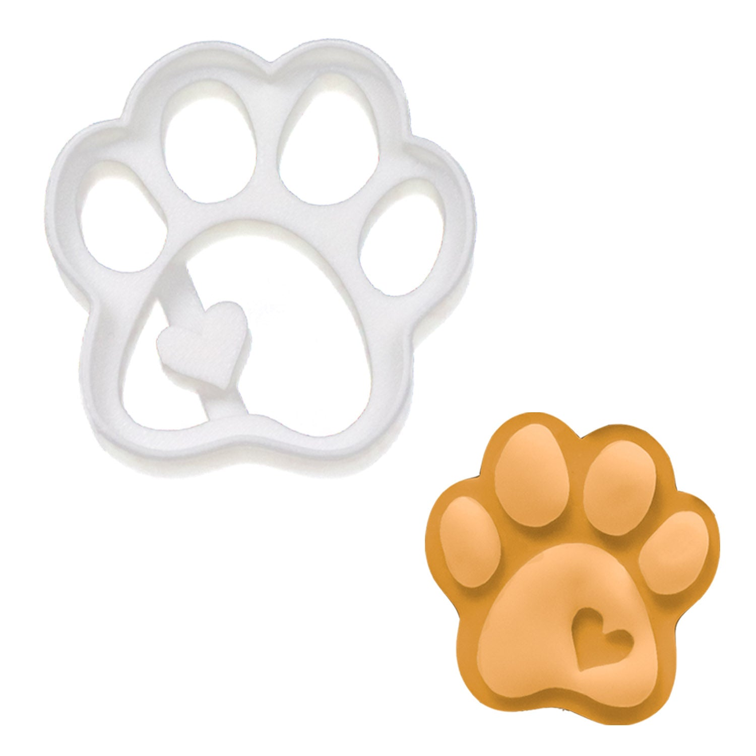 small cute paw cookie cutter