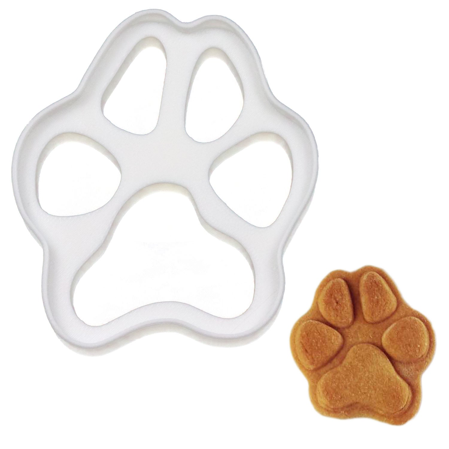 realistic dog paw cookie cutter