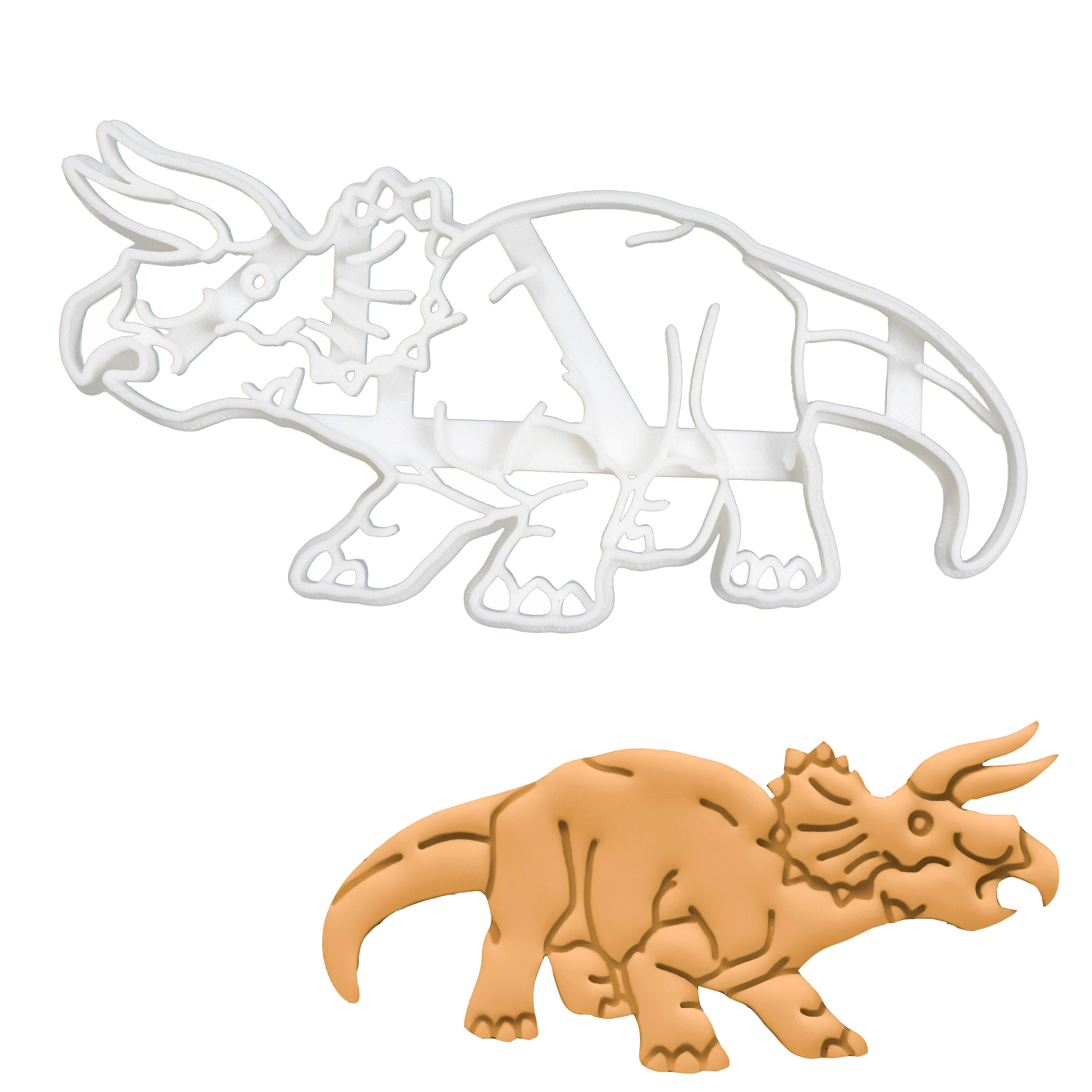 realistic triceratops dinosaur cookie cutter