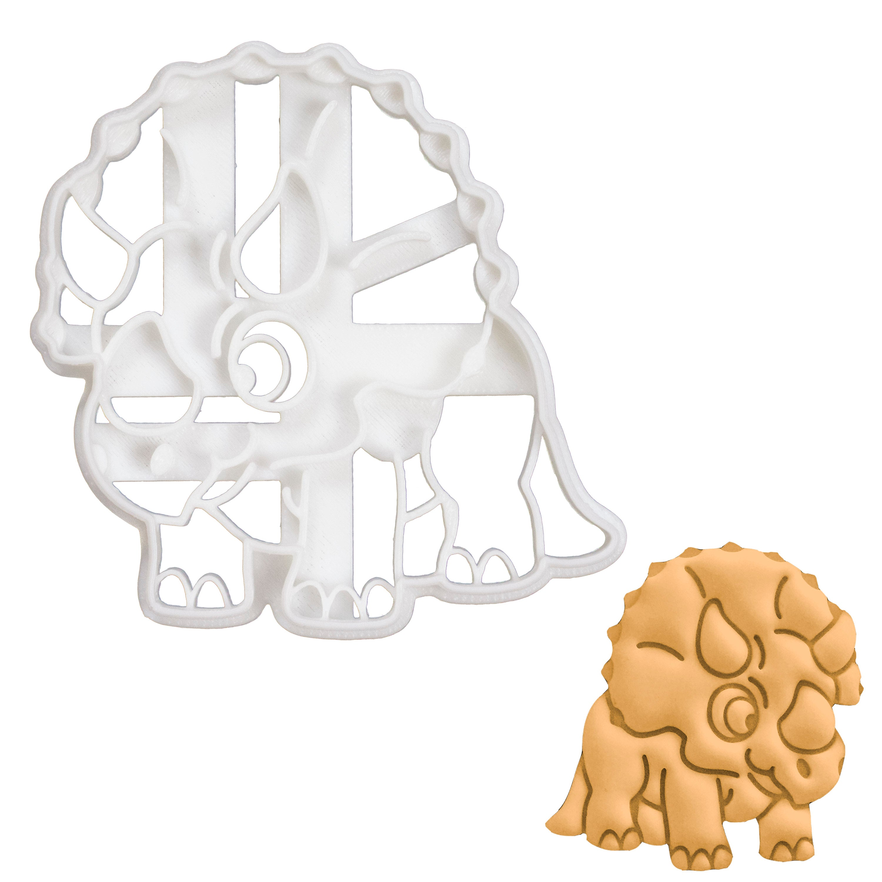 baby triceratops cookie cutter