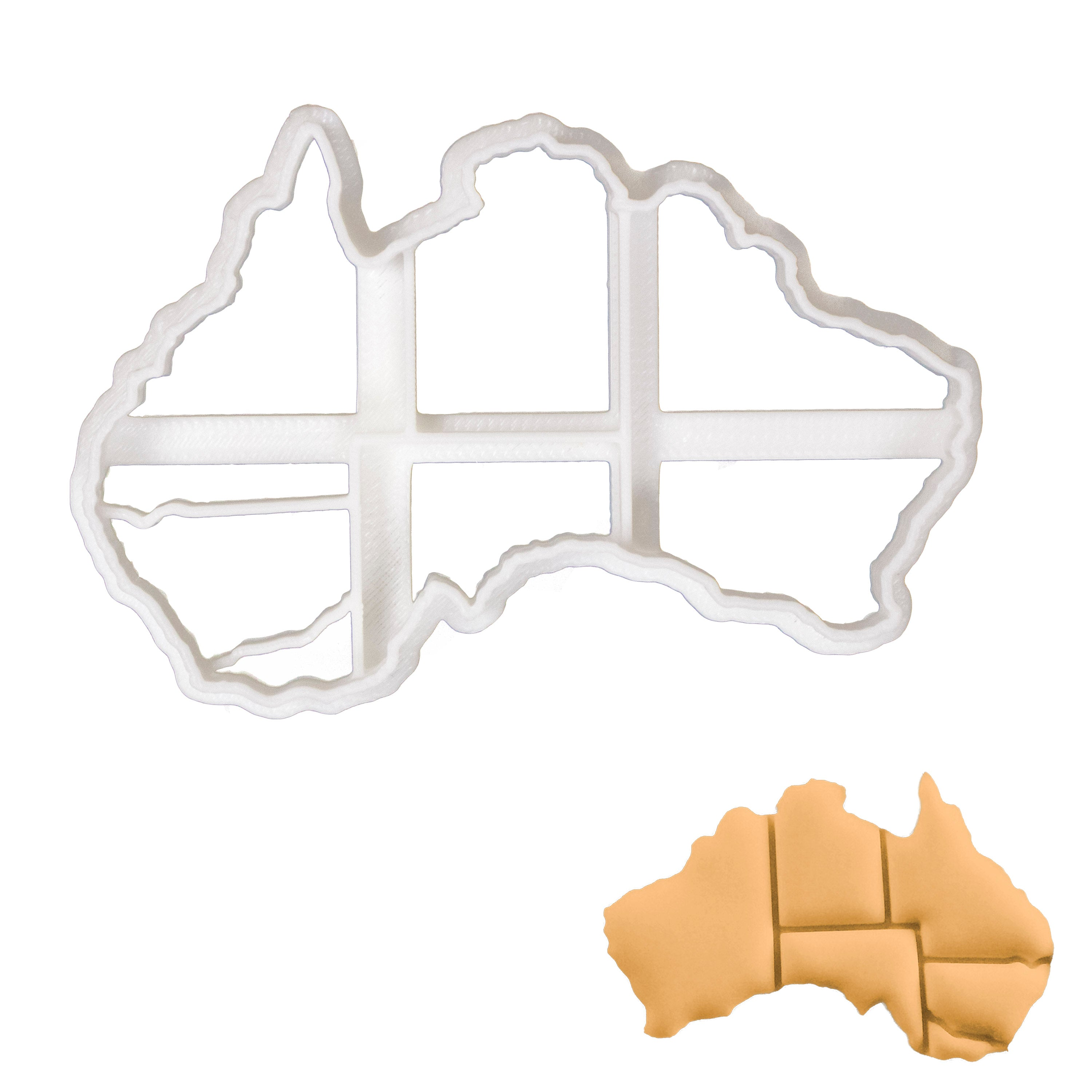 map of mainland Australia cookie cutter