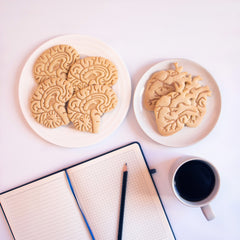 Anatomical Heart and Brain Cookies