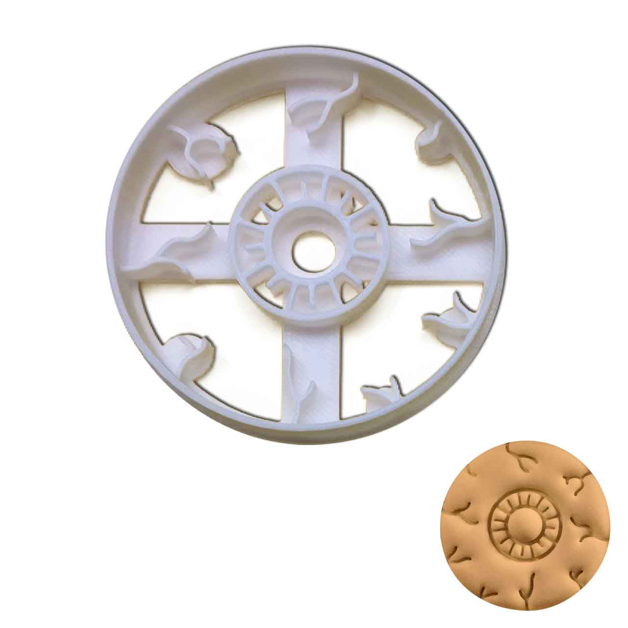 eyeball cookie cutter (Front view)
