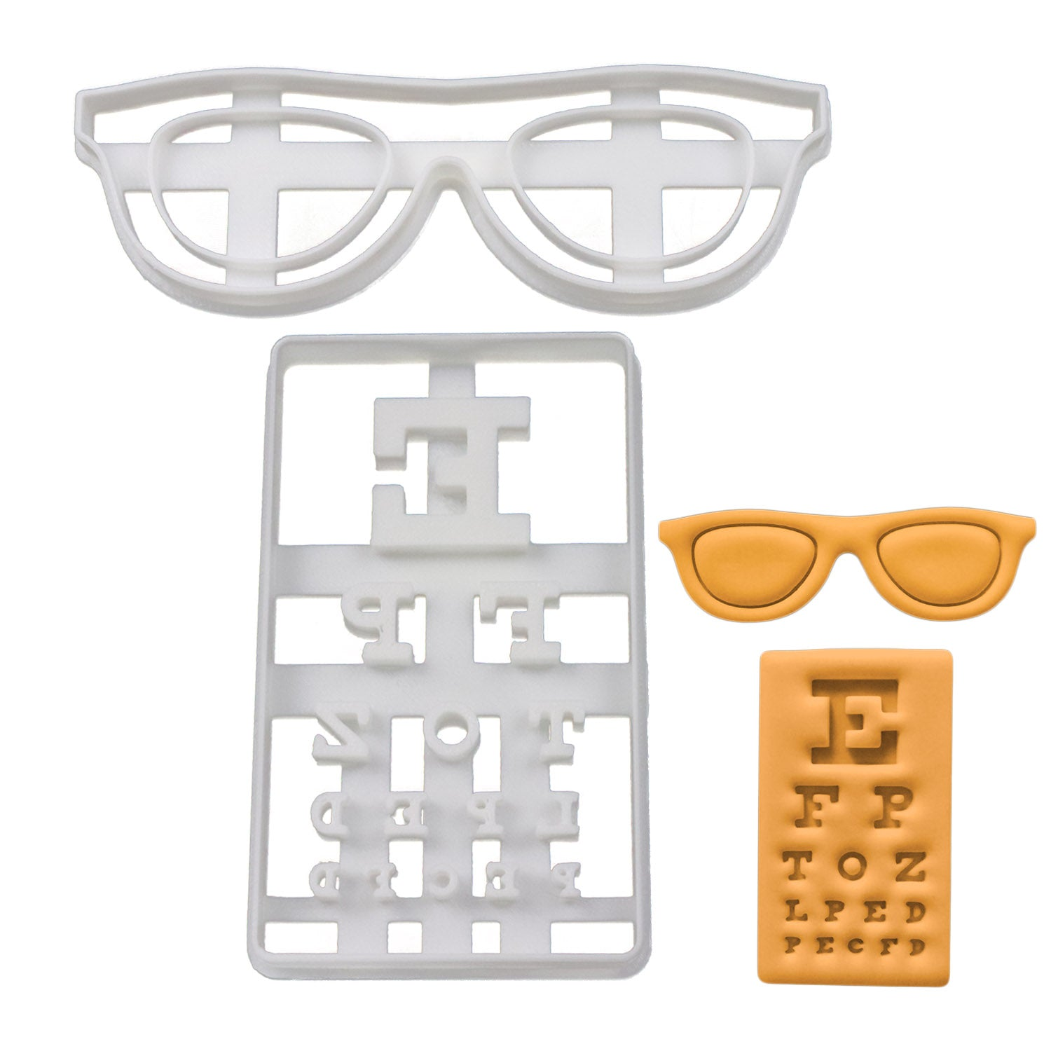 spectacles and snellen chart cookie cutters