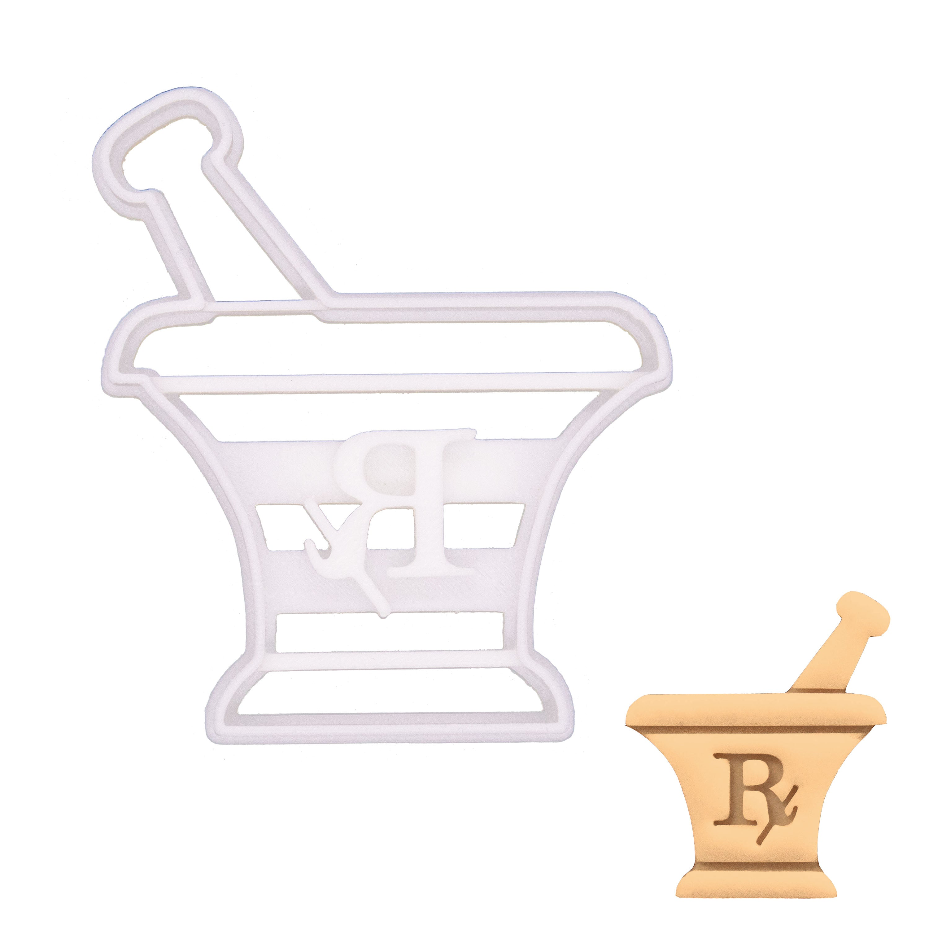 pestle and mortar cookie cutter