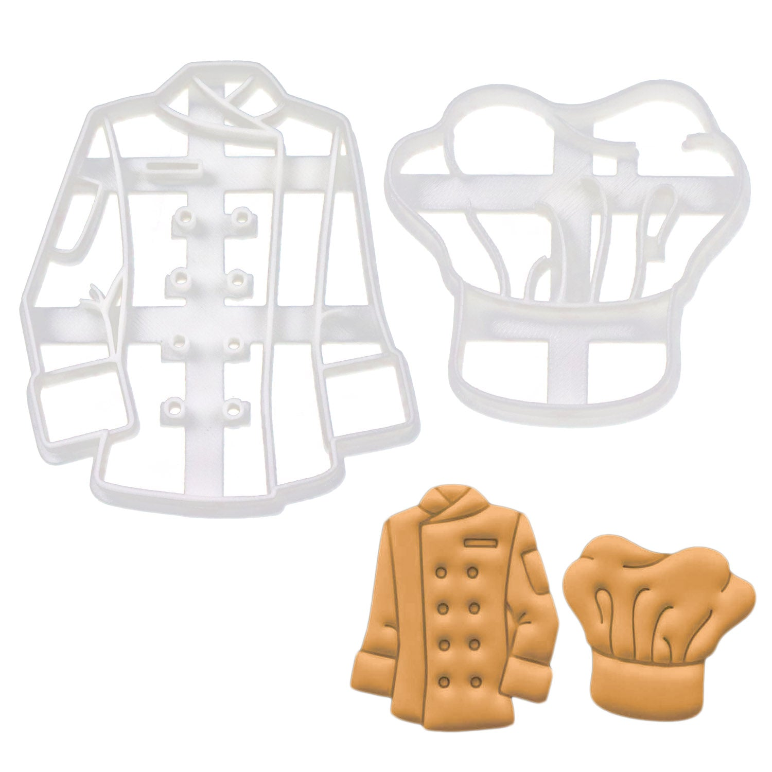 Chef's Jacket and Hat Cookie Cutters