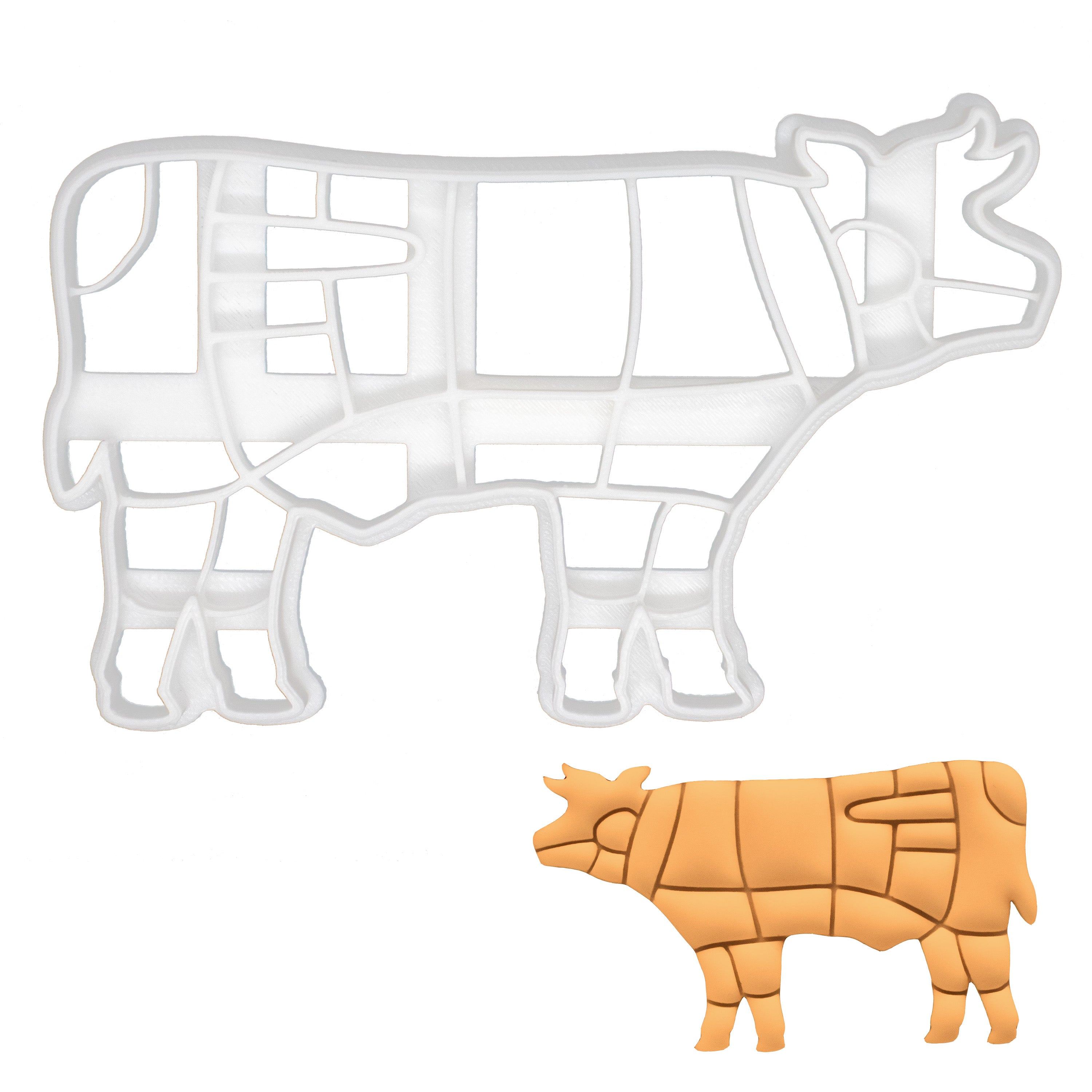 butcher cow cookie cutter