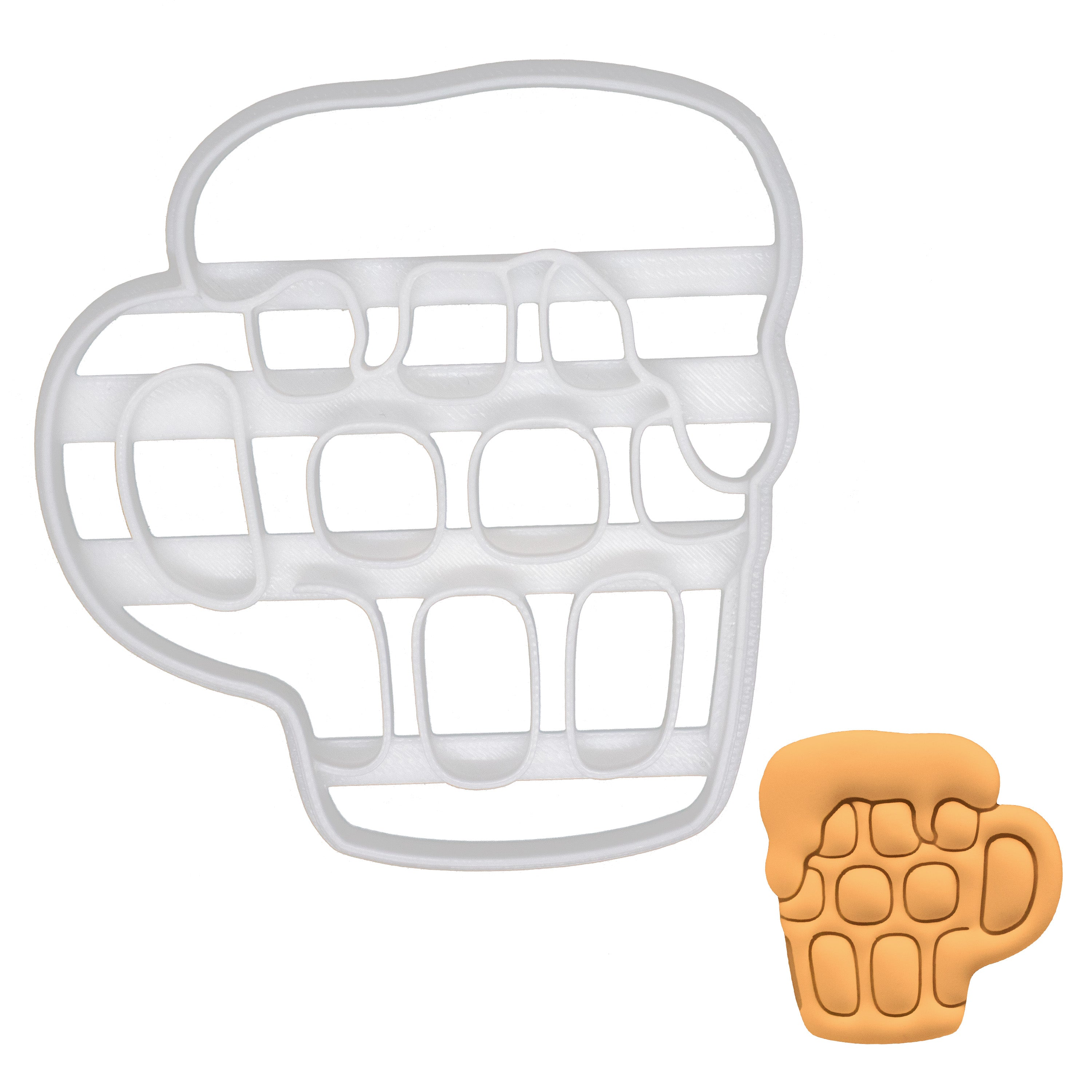 dimpled glass beer cookie cutter
