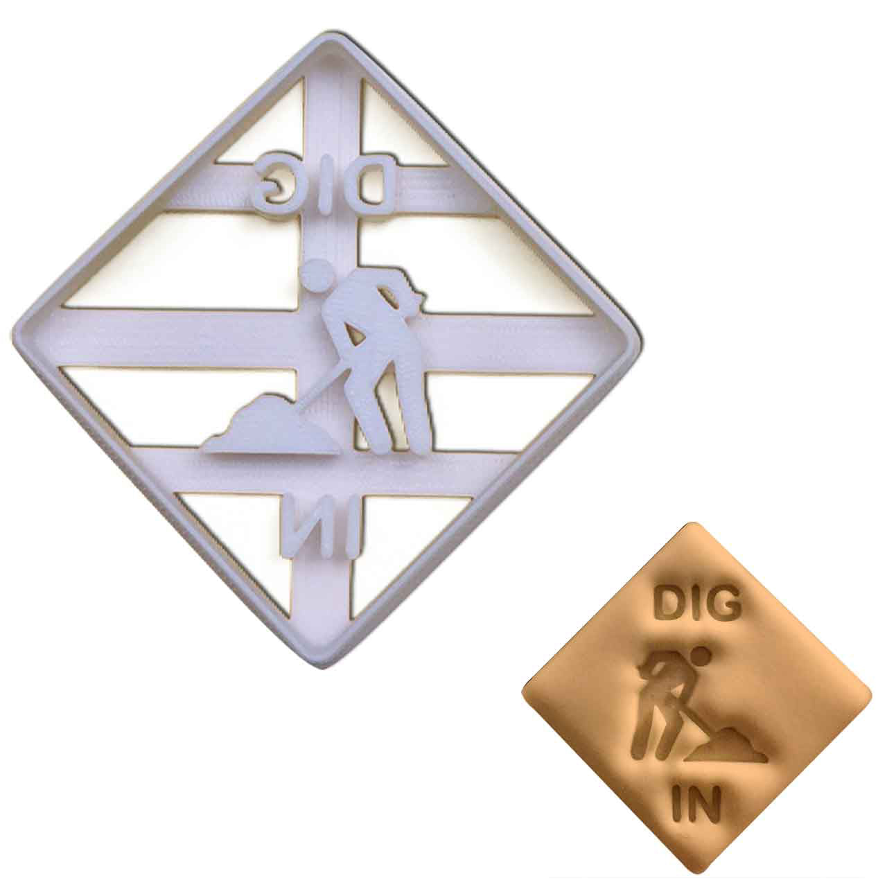 Dig In Signage cookie Cutter