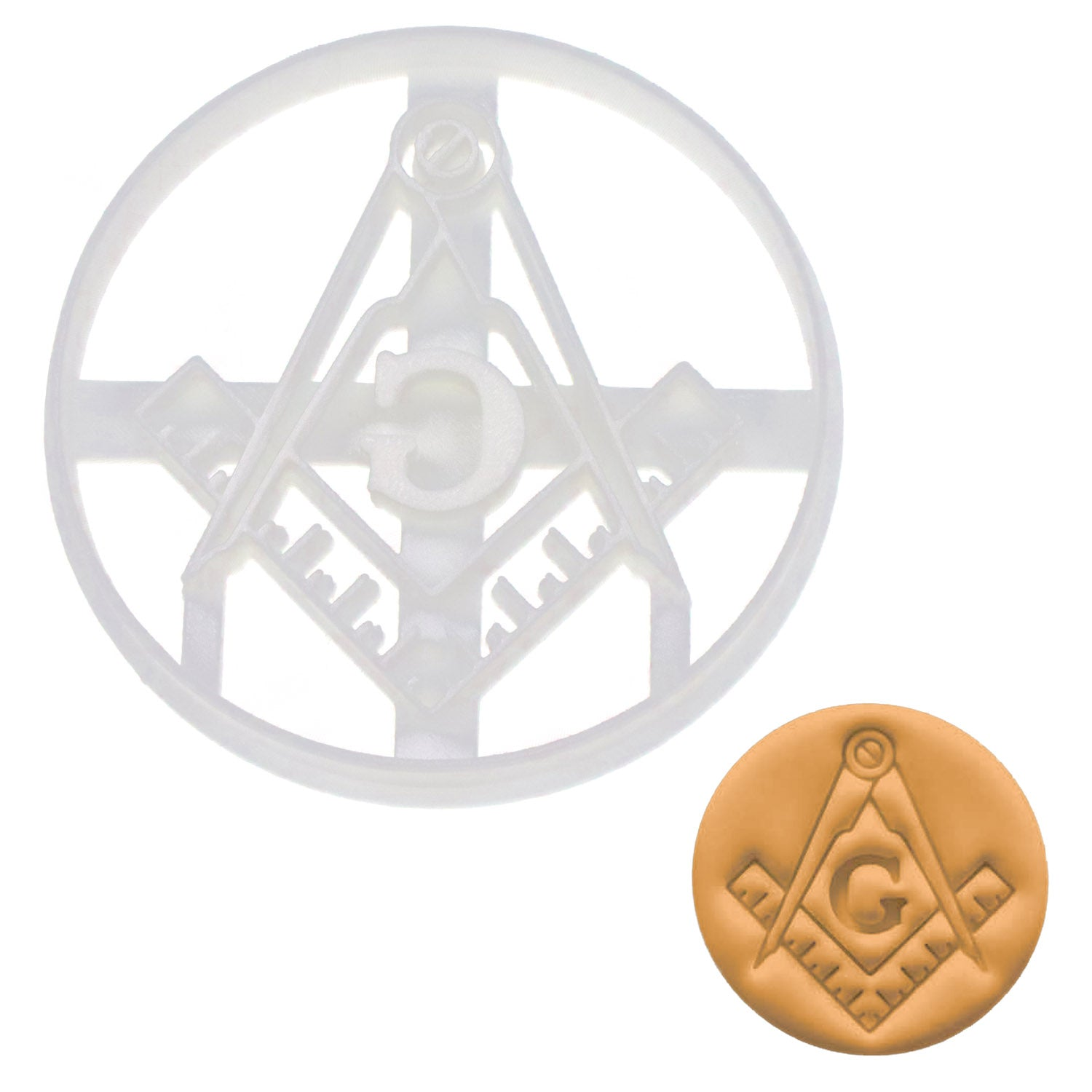 Masonic Square & Compasses Cookie Cutter