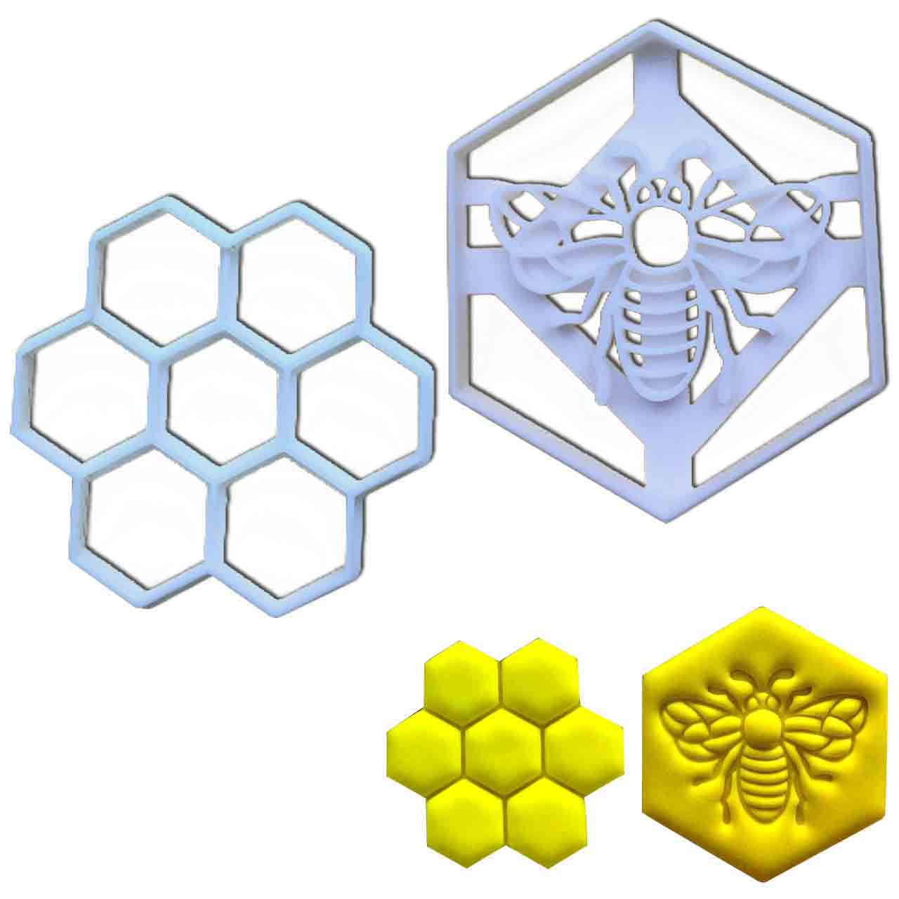 Honey Bee and Honeycomb Cookie Cutters
