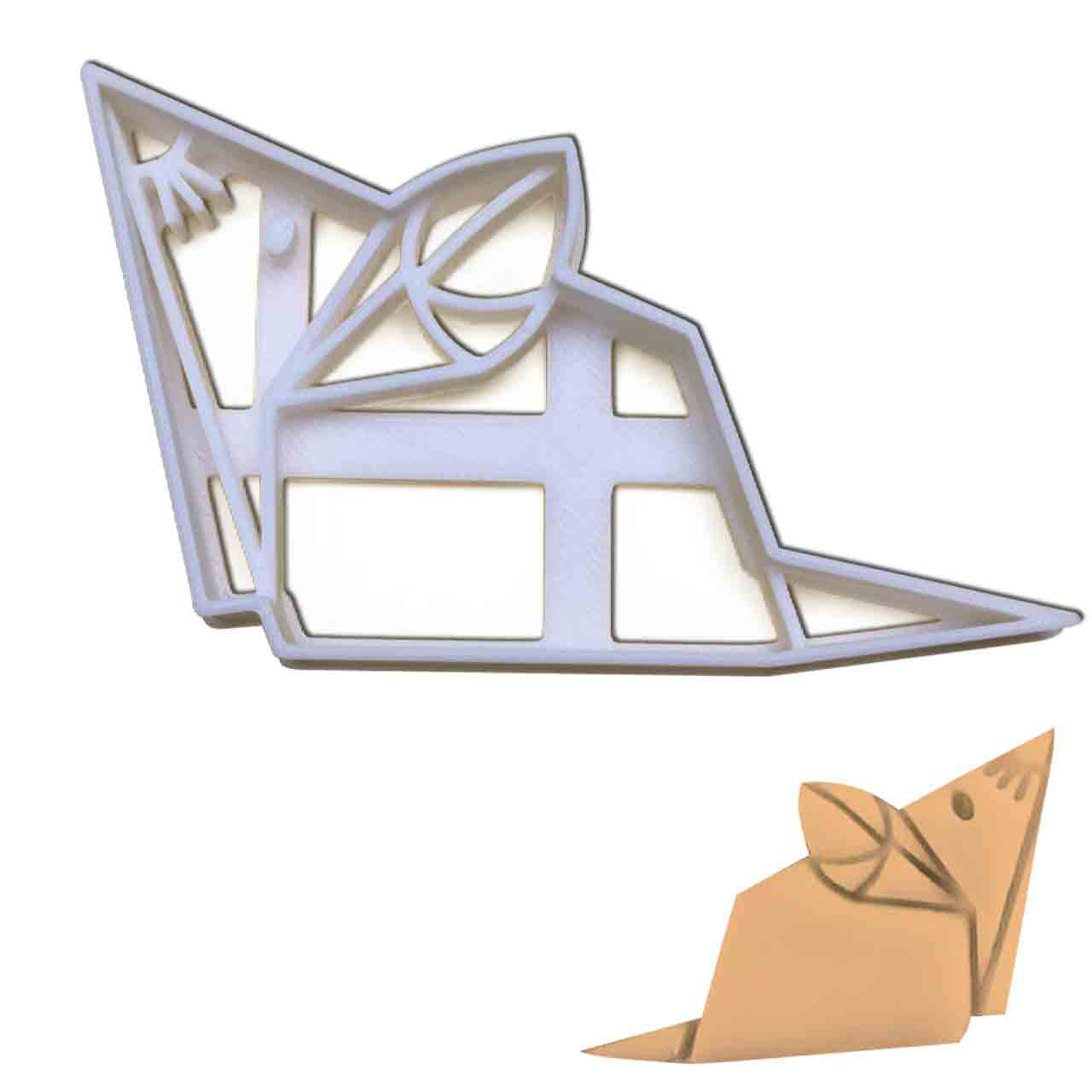 origami mouse cookie cutter