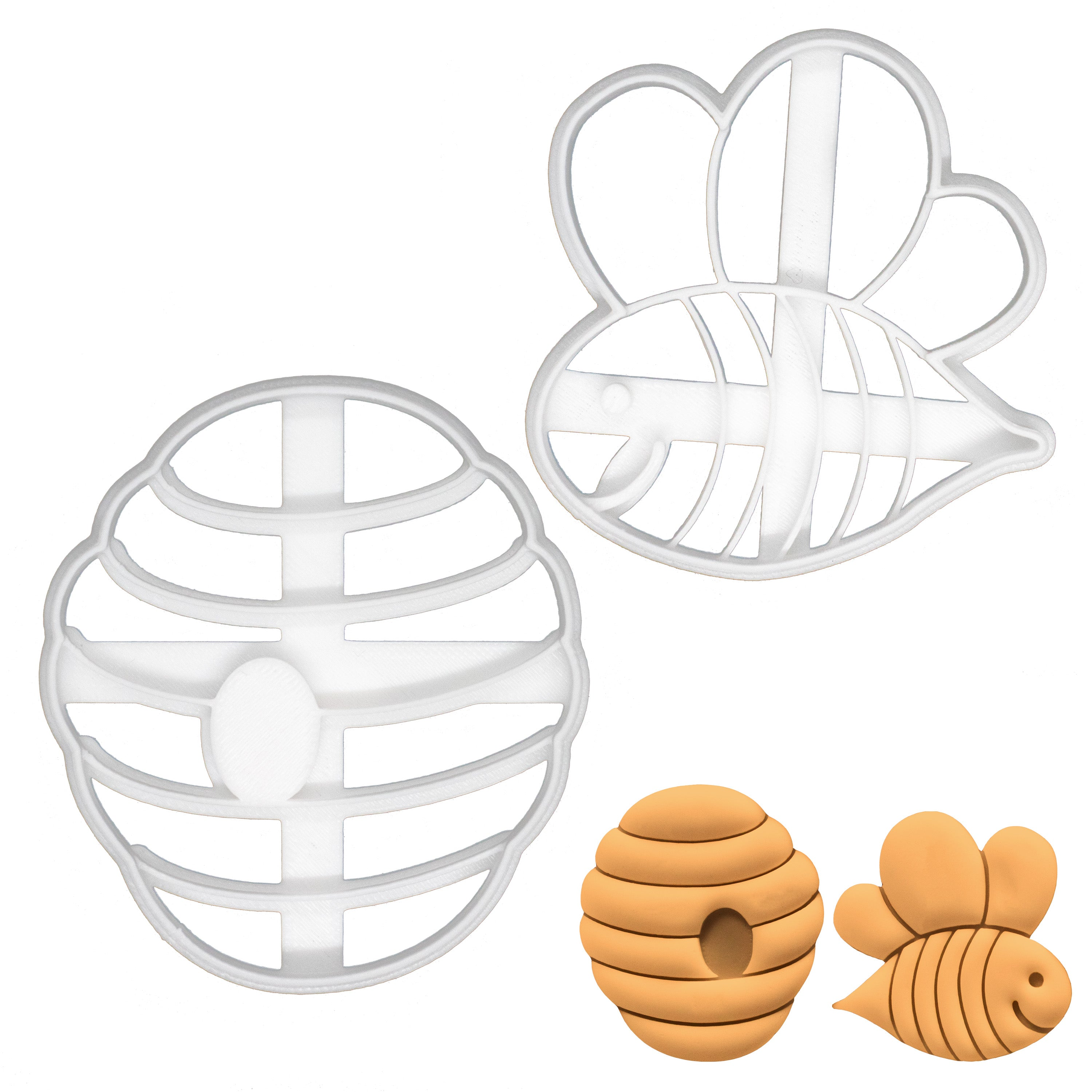 cute bee and beehive cookie cutters