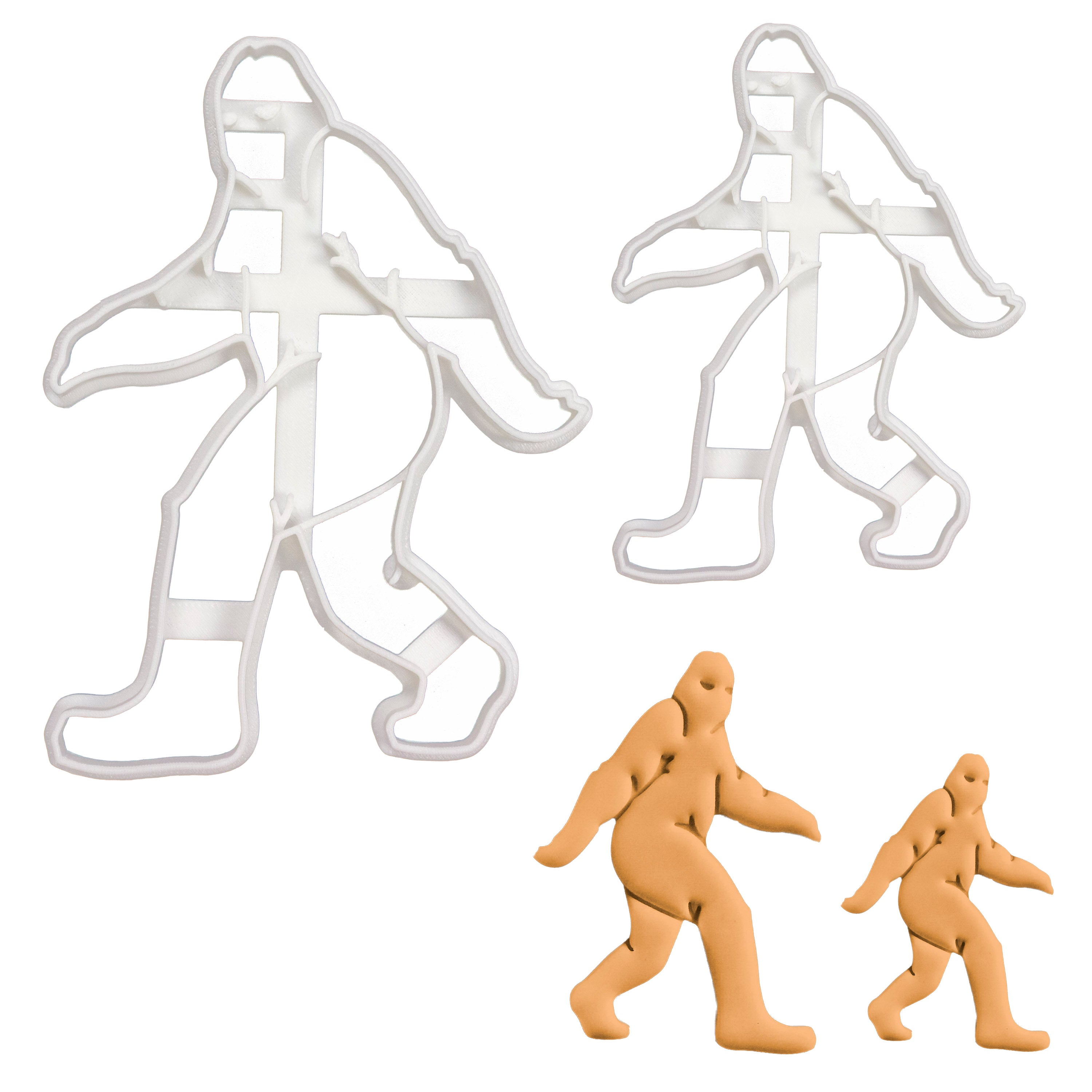 set of 2 big foot cookie cutters