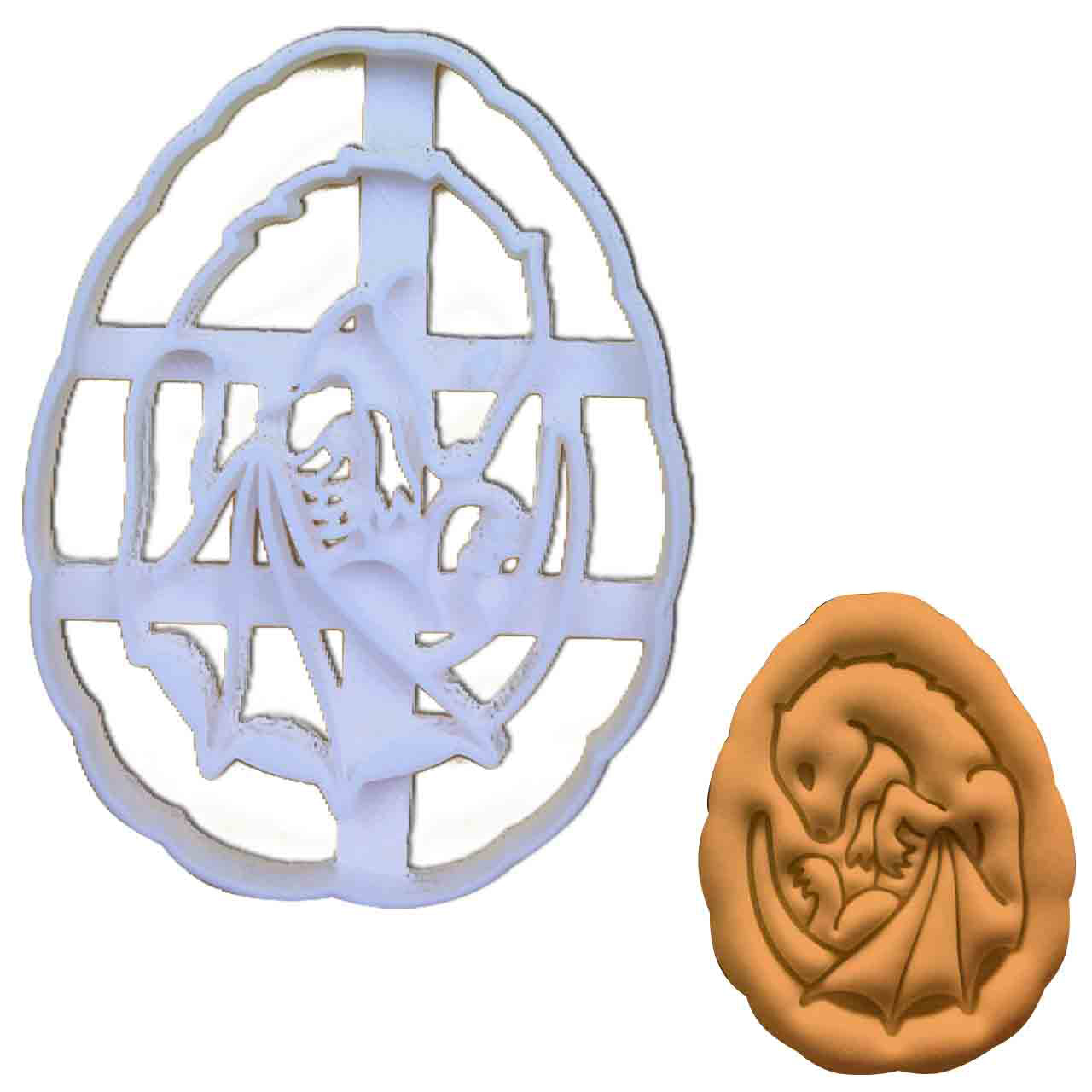 dragon baby fetus cookie cutter