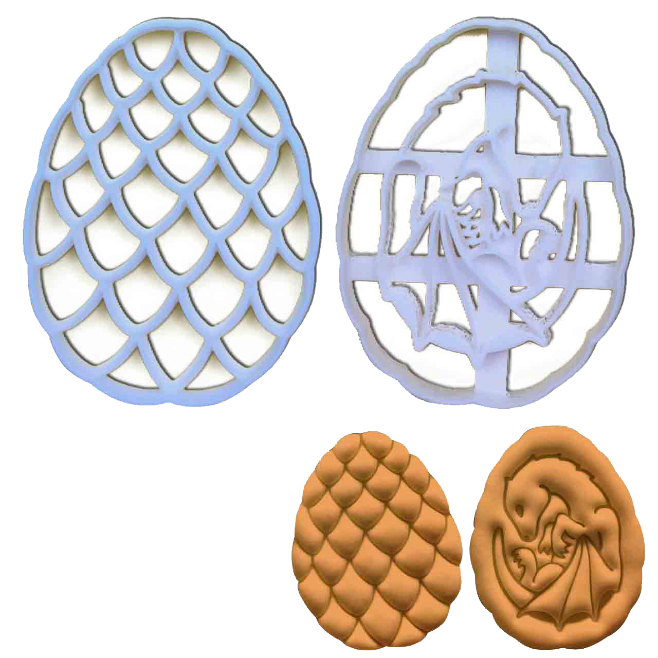 Dragon Egg and Dragon Baby Cookie Cutters