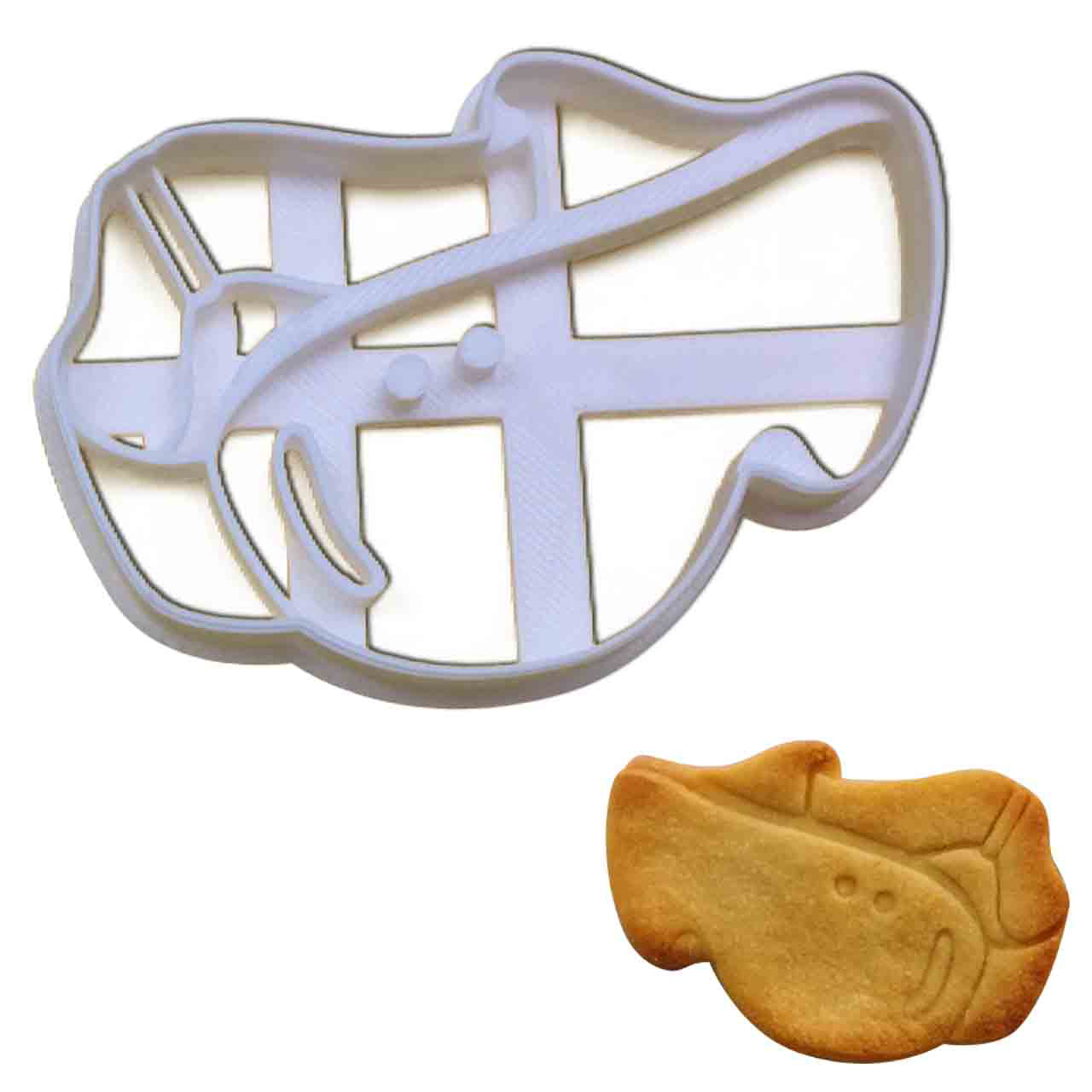 snowboard goggles cookie cutter pressed on fondant