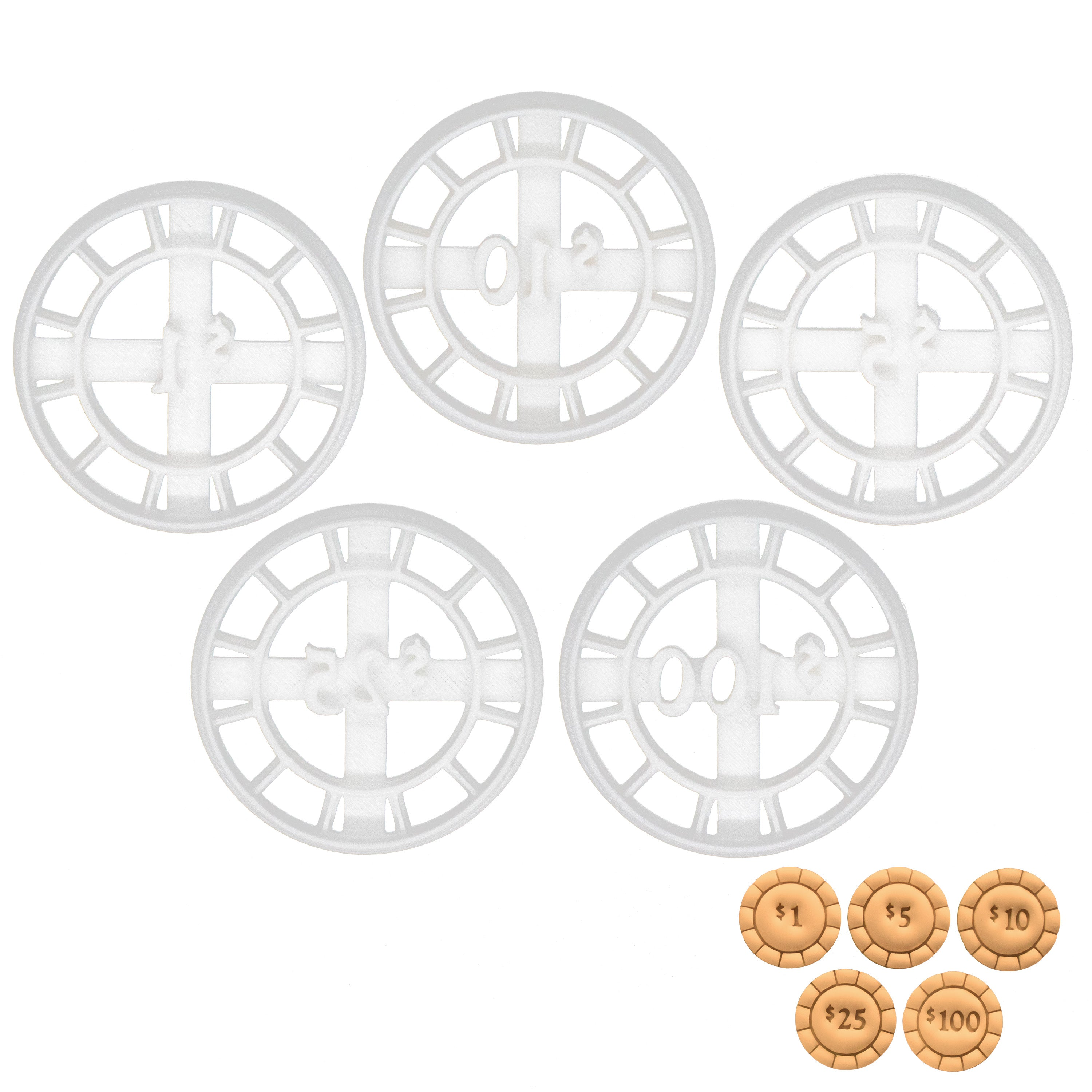 poker chips cookie cutters
