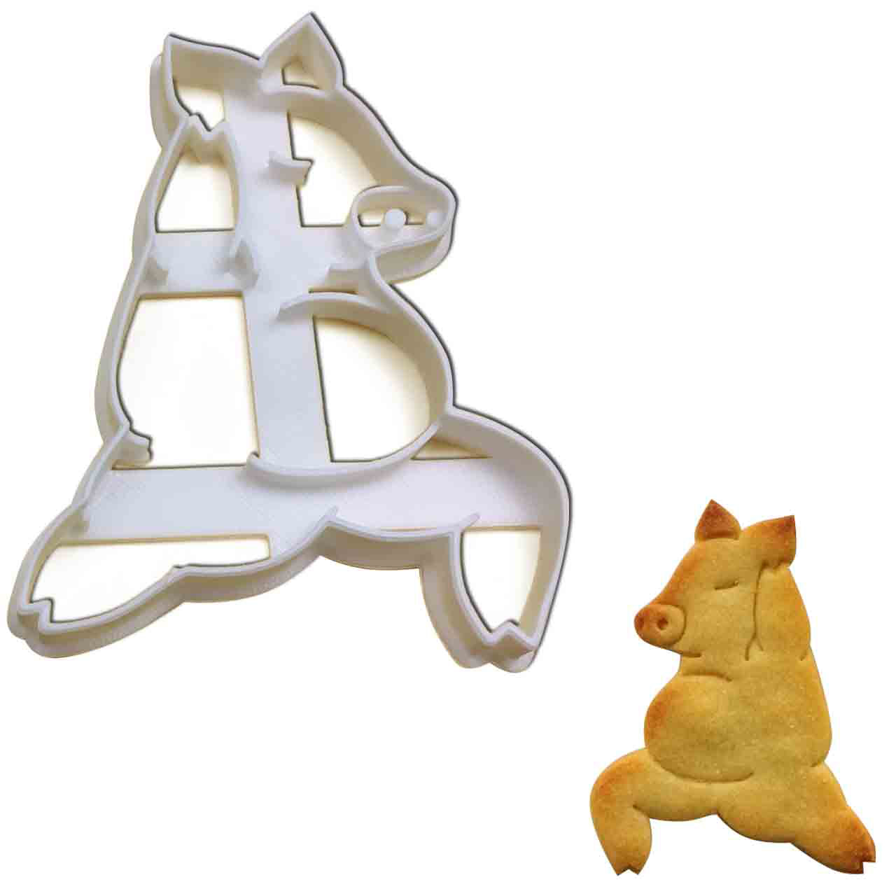 Yoga Pig Warrior Pose 1 Cookie Cutter