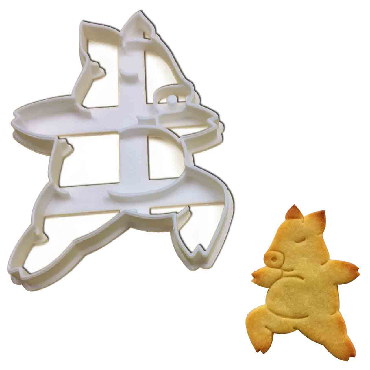 Yoga Pig Warrior Pose 2 Cookie Cutter