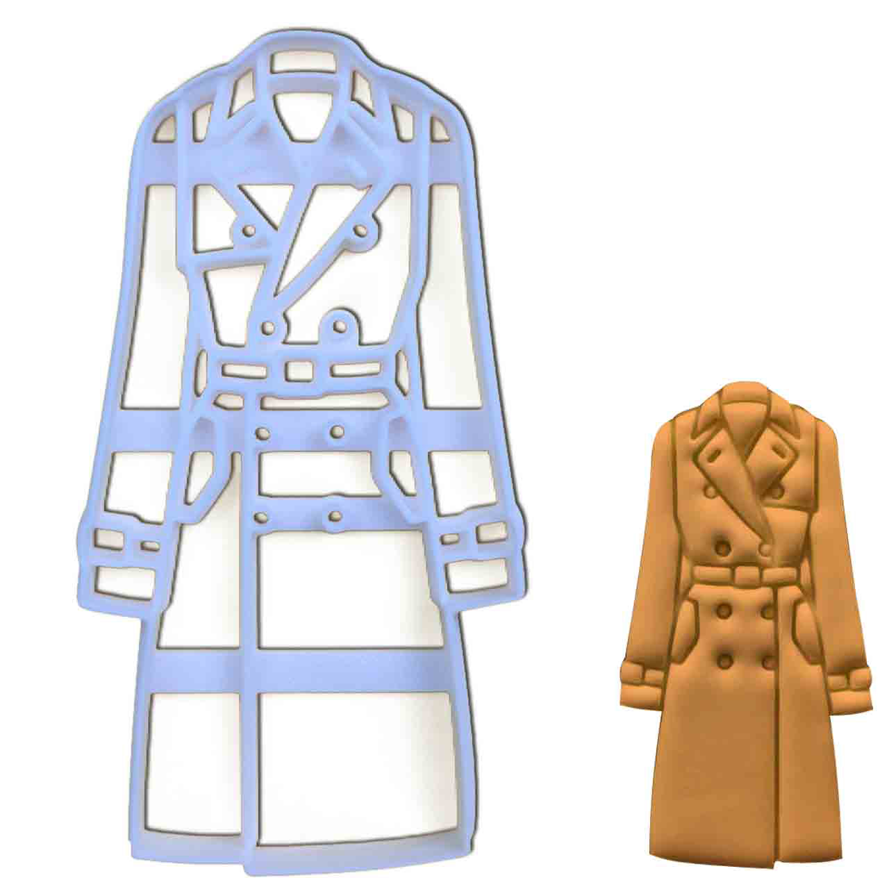 Trench Coat Cookie Cutter