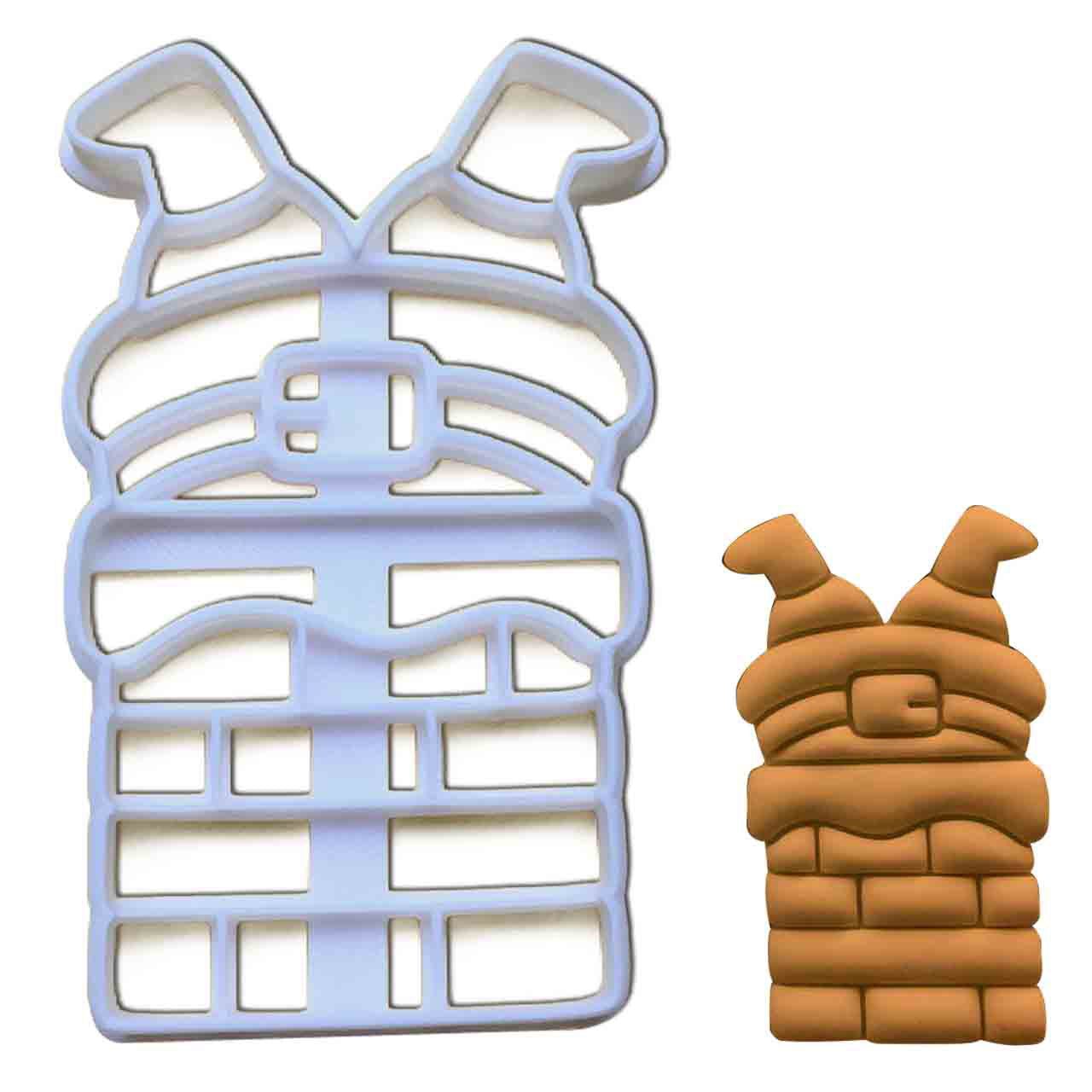Santa Claus Stuck in the Chimney Cookie Cutter