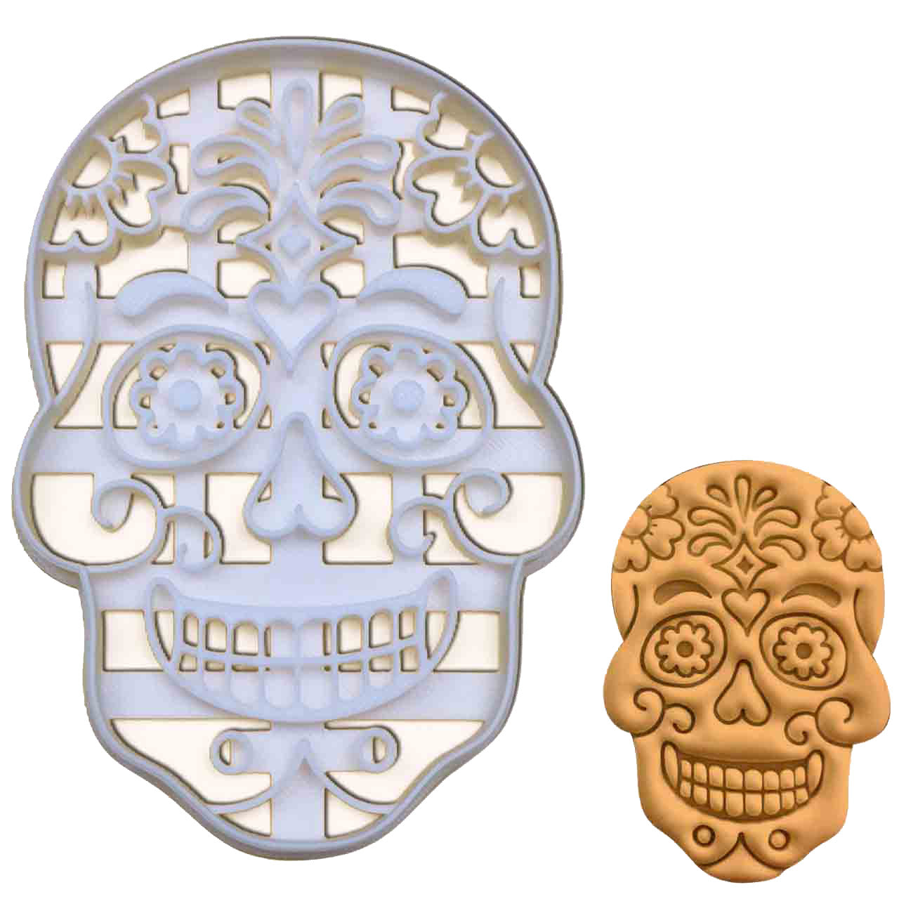 Day of the Dead Floral Skull Cookie Cutter