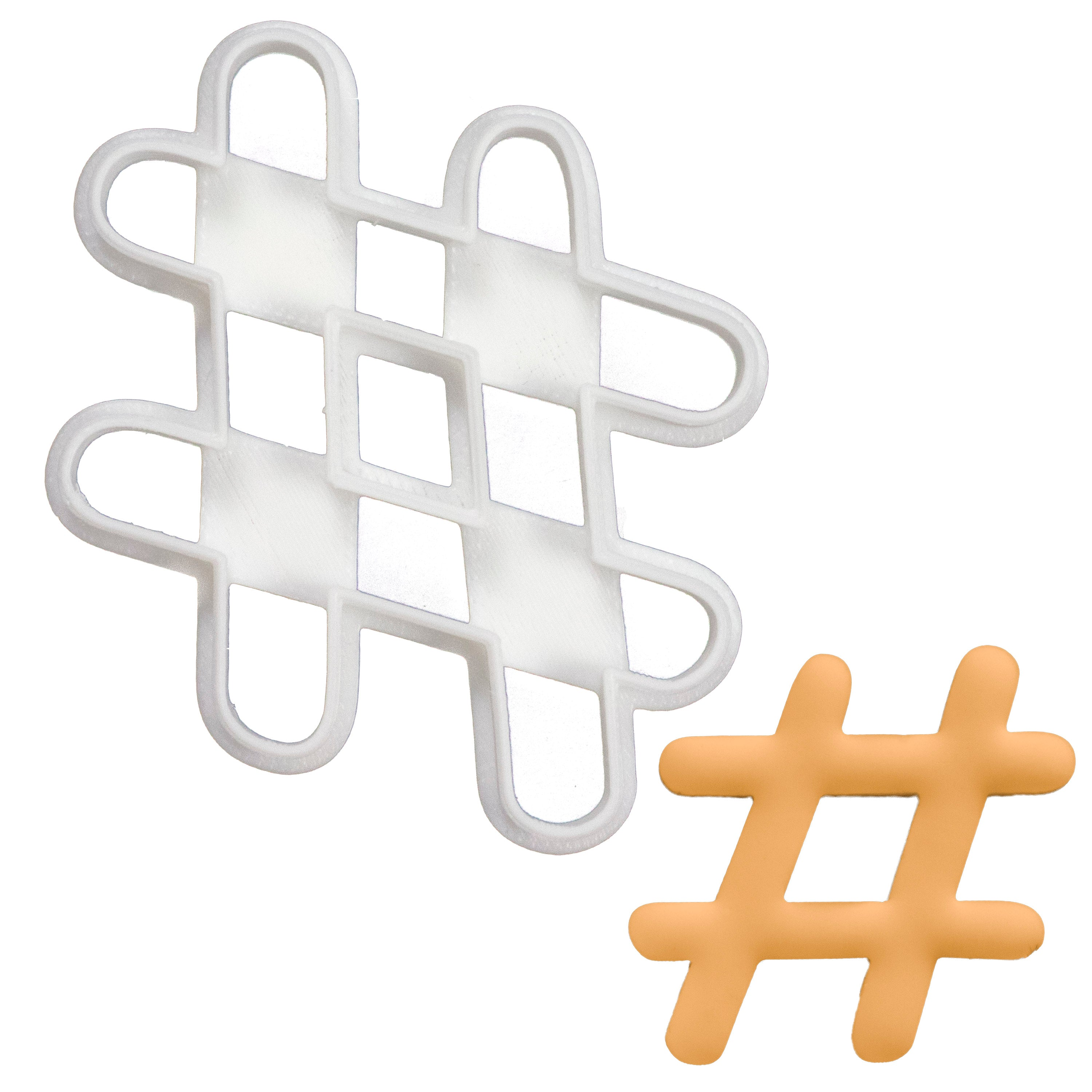 Hashtag cookie cutter