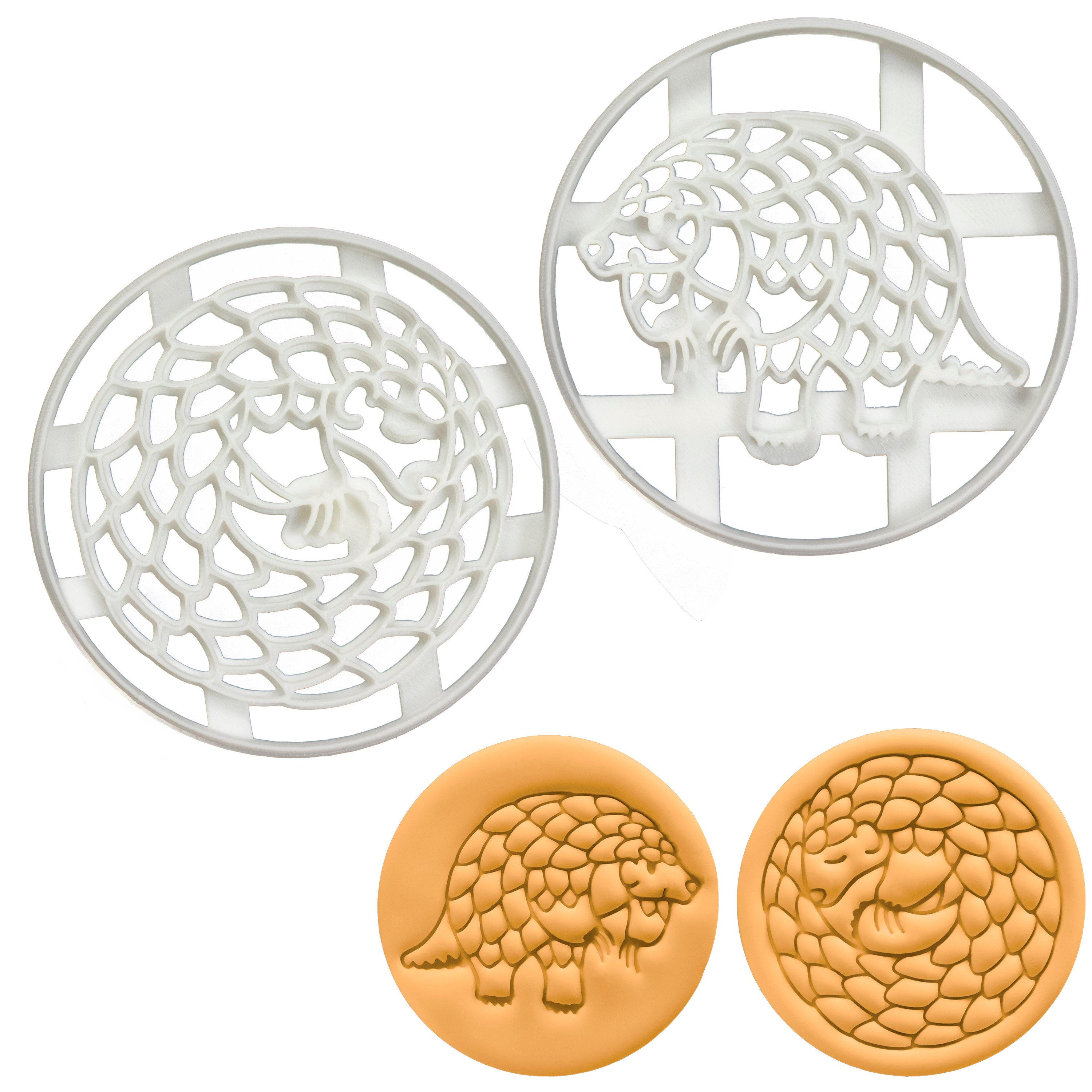 Set of 2 Pangolin Cookie Cutters