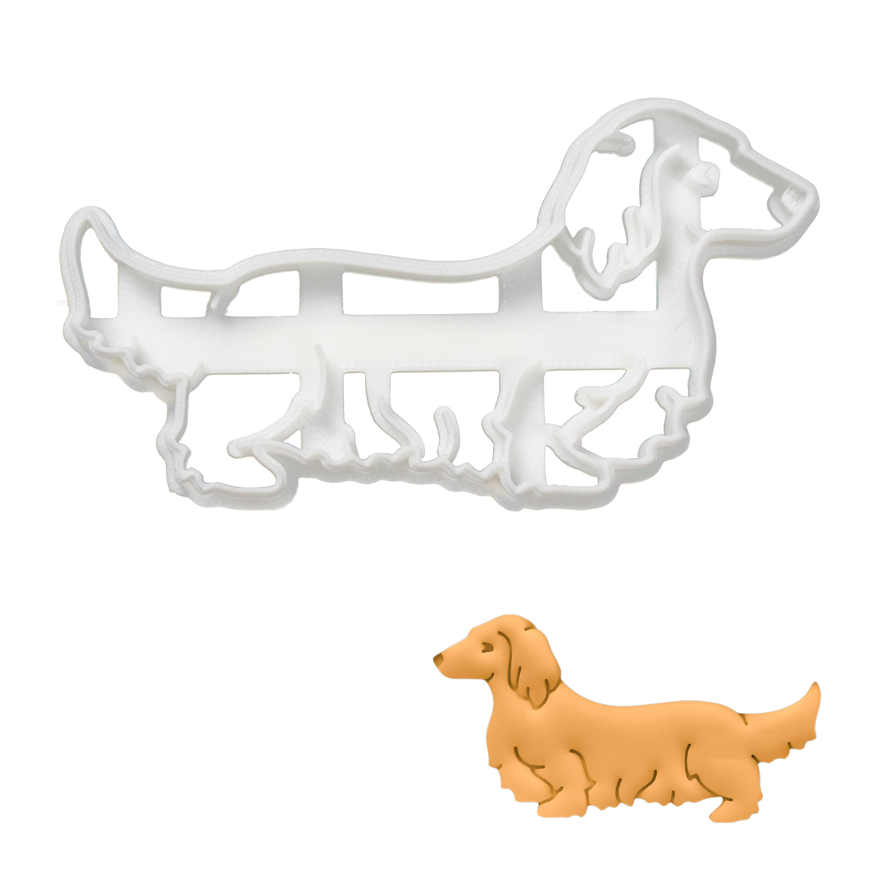 long haired dachshund cookie cutter