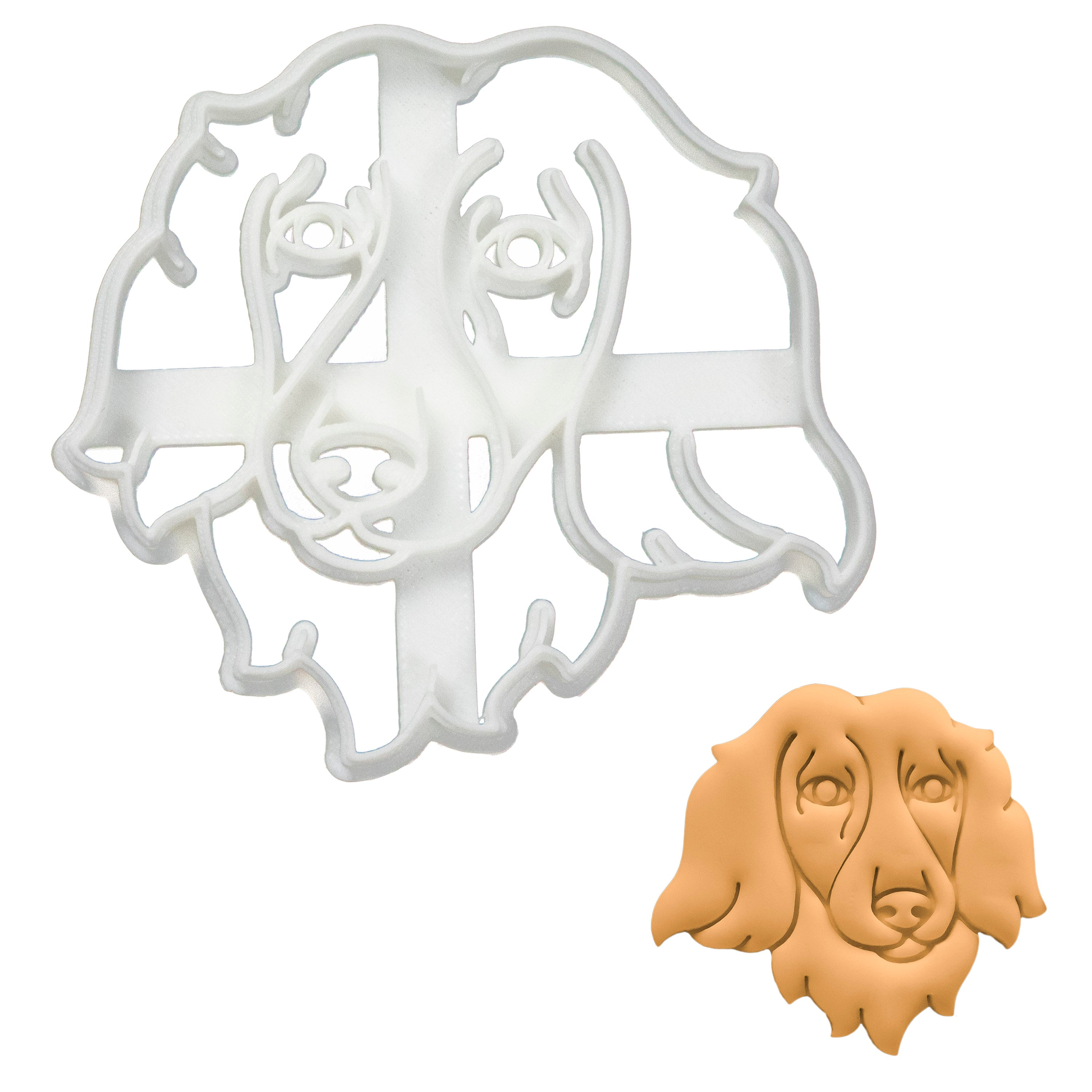 long haired dachshund face cookie cutter