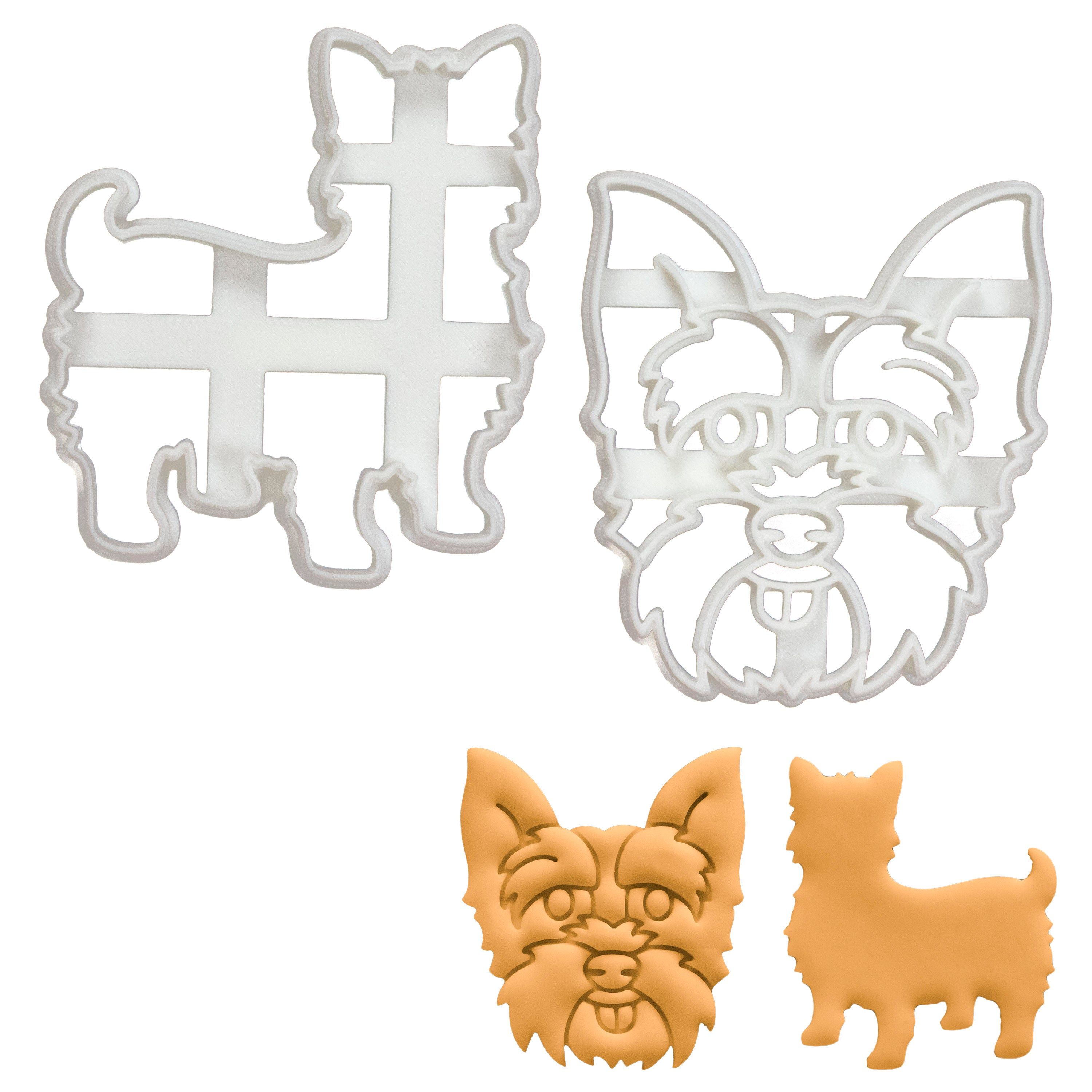 Set of 2 Yorkshire Terrier Cookie Cutters
