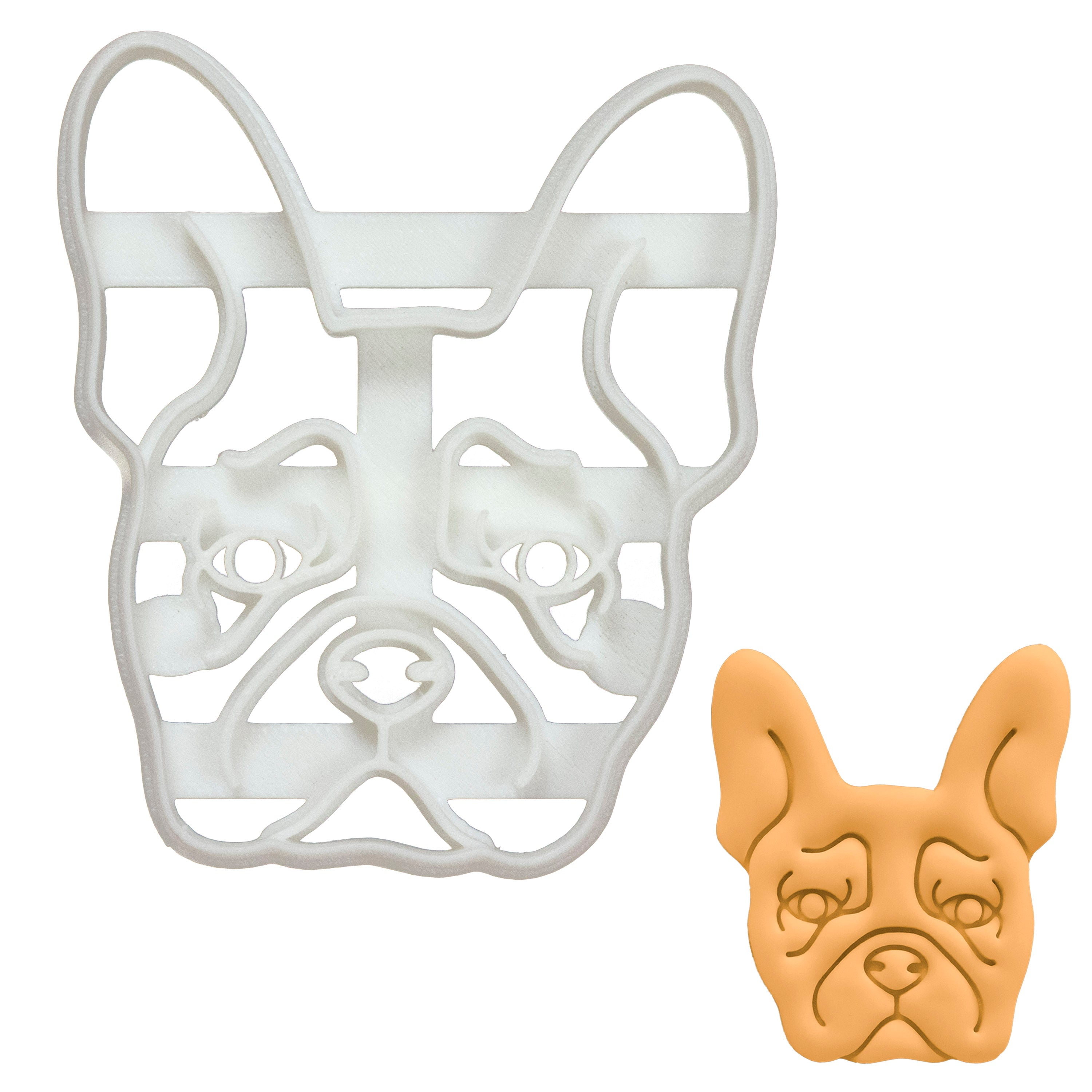 French Bulldog Face Cookie Cutter