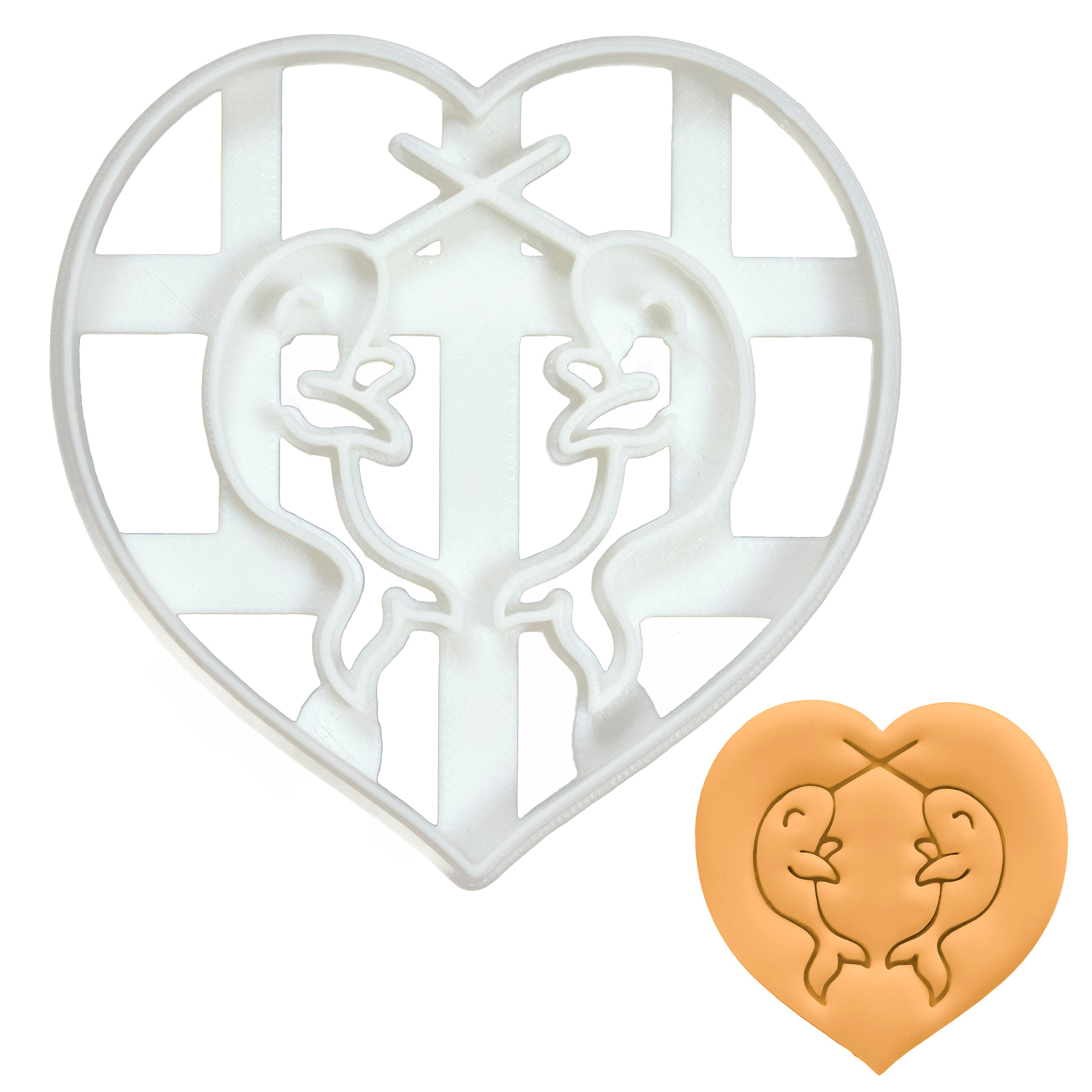 Narwhals in Love Cookie Cutter