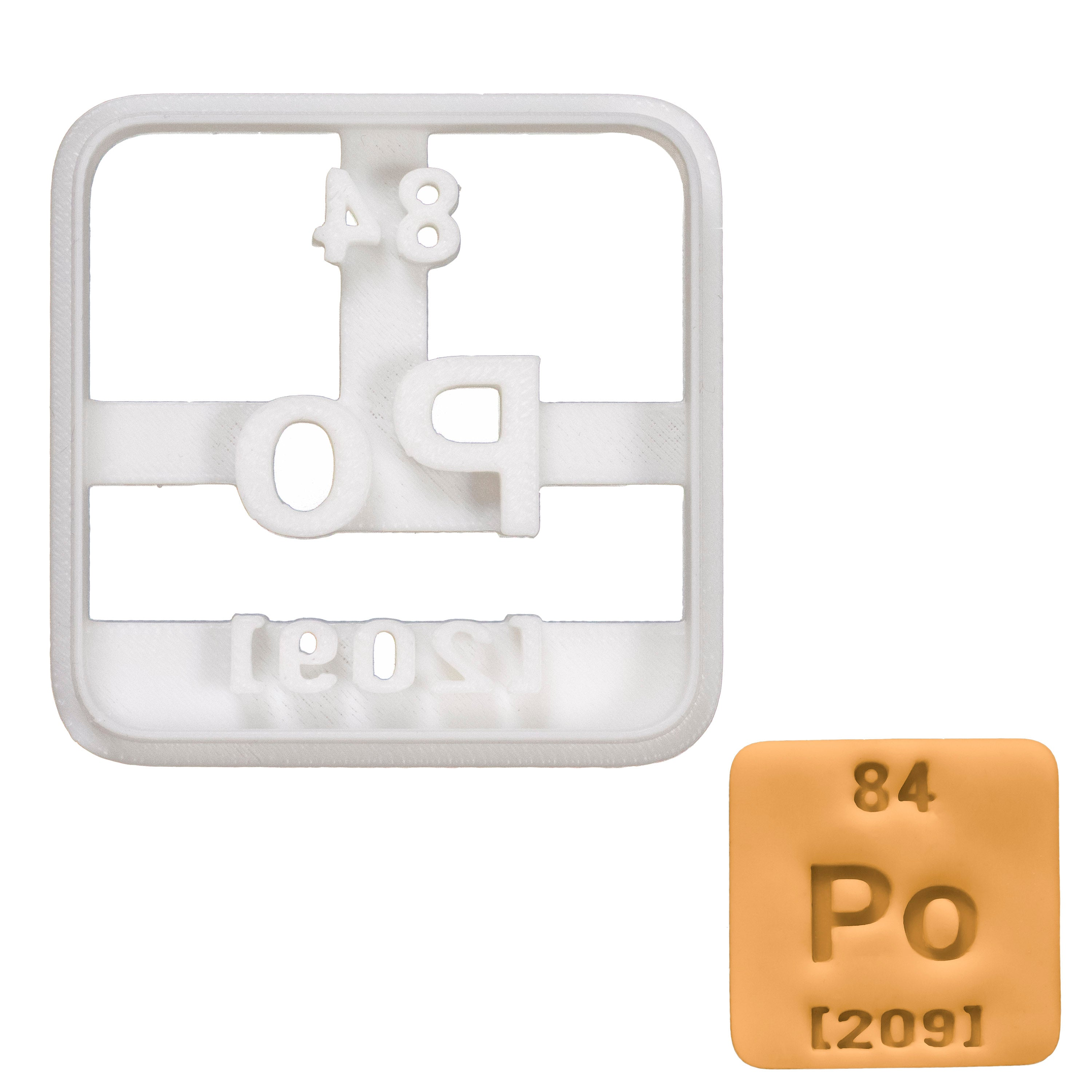 Periodic Table Element Polonium Cookie Cutter