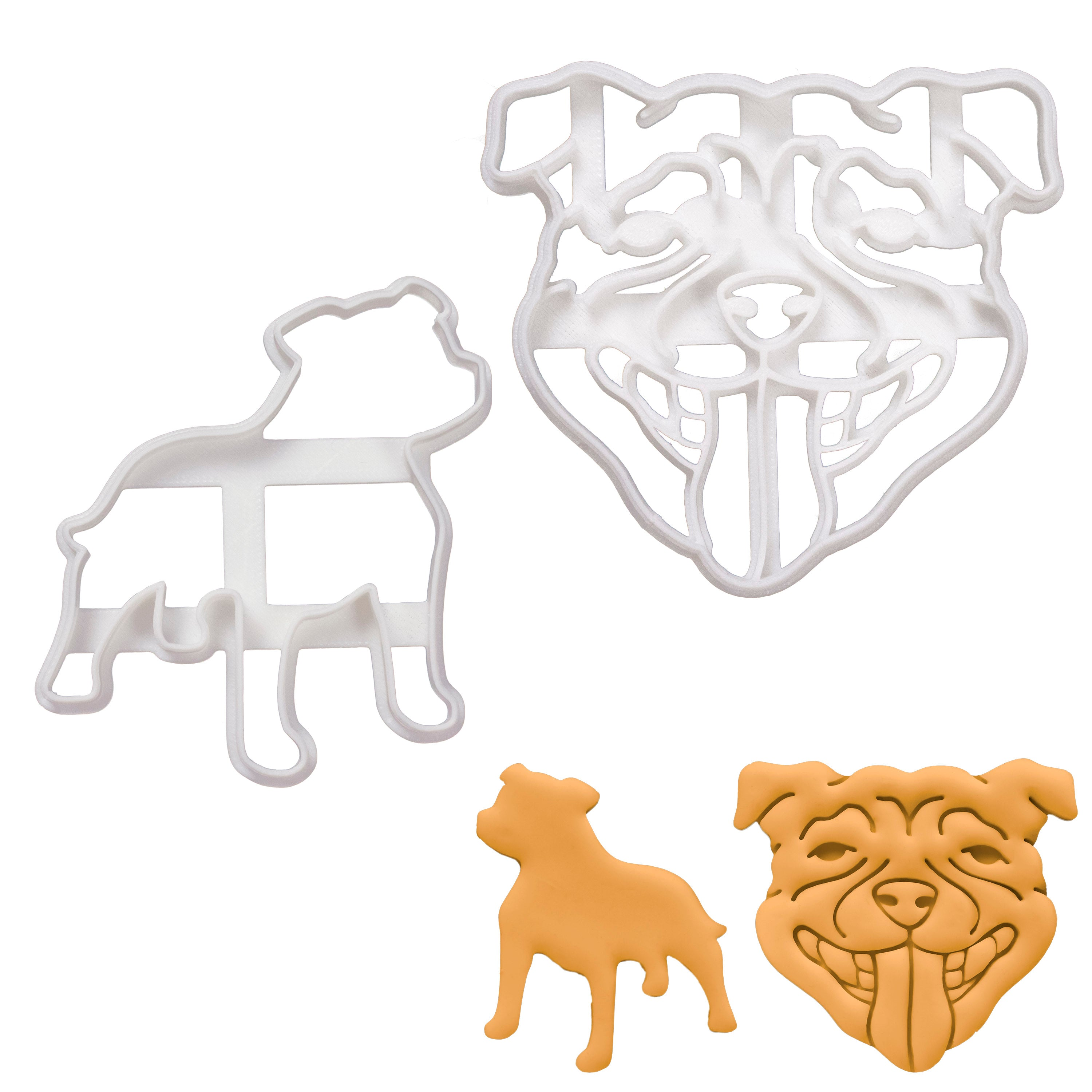 staffordshire bull terrier cookie cutters
