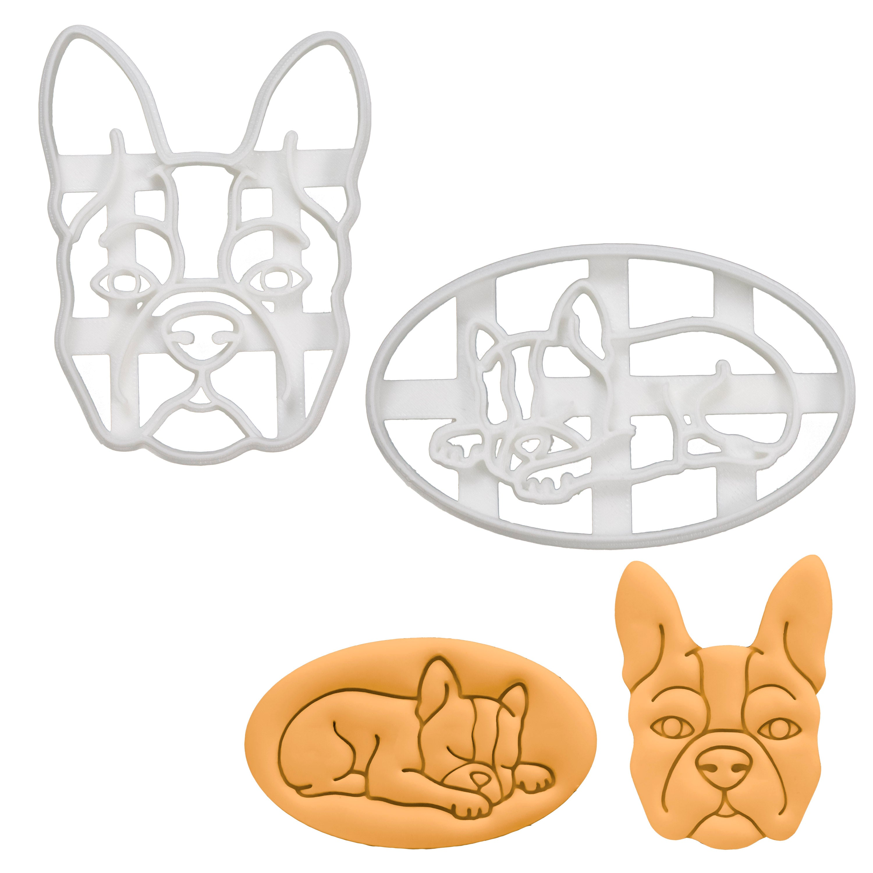 Set of 2 Boston Terrier Cookie Cutters