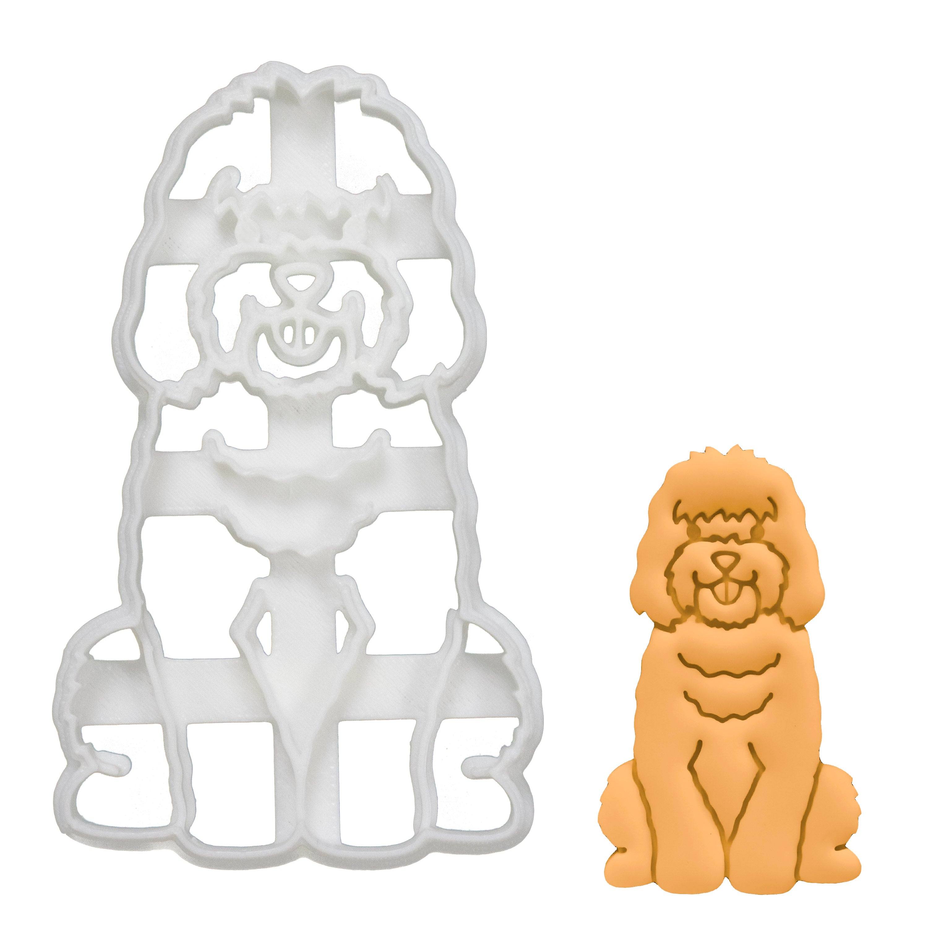 Cockapoo Body Cookie Cutter