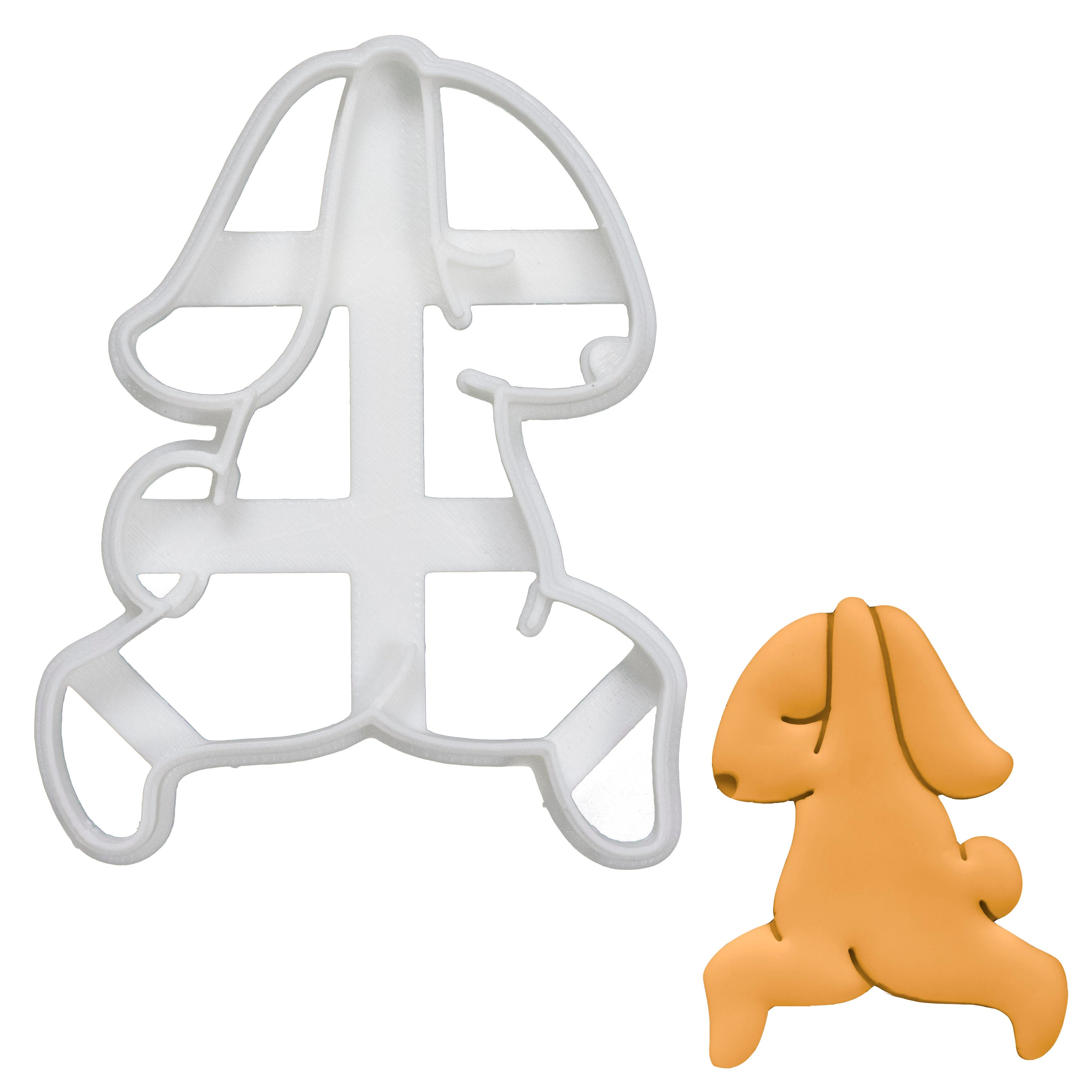 yoga bunny warrior pose 1 cookie cutter