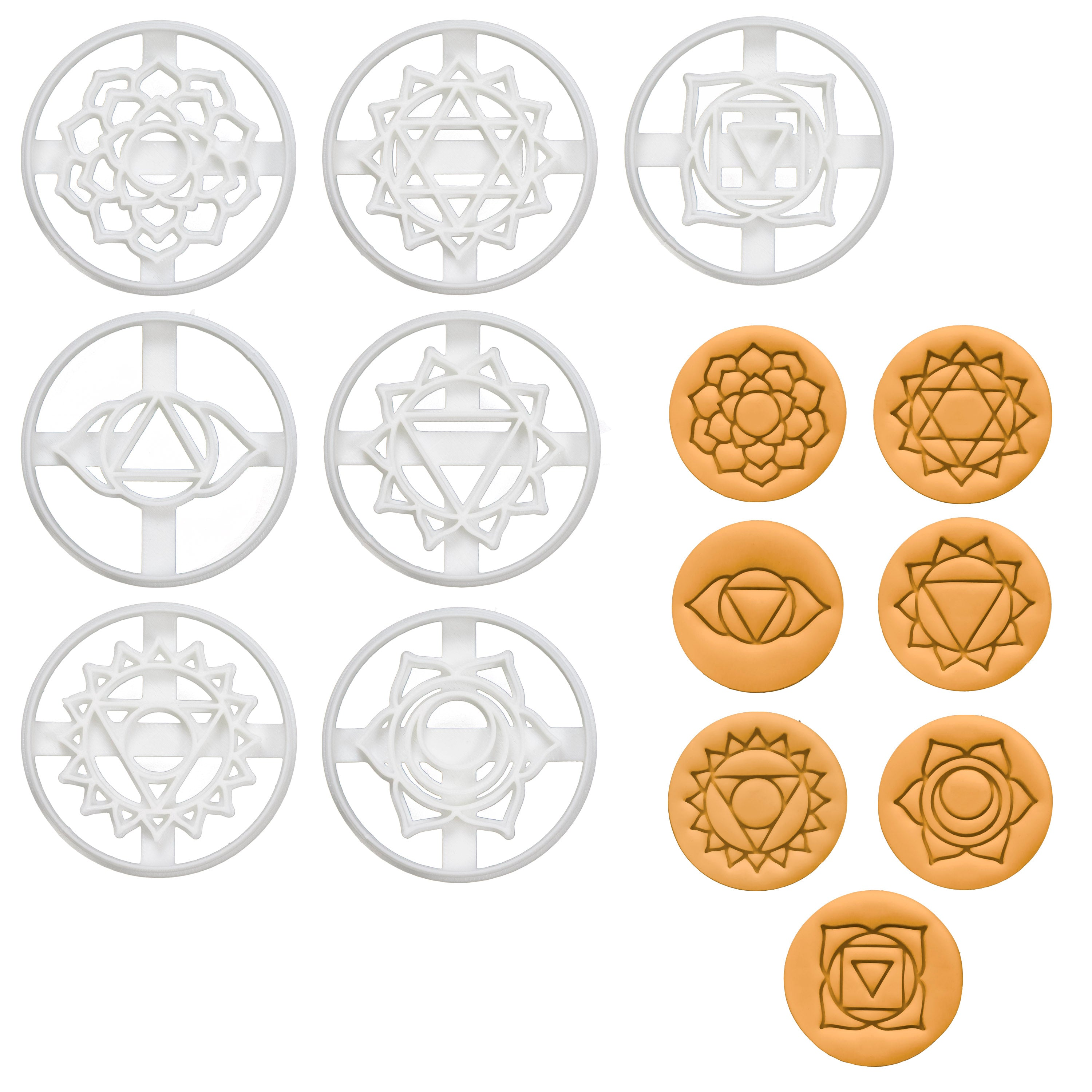 Set of 7 Yoga Chakras Cookie Cutters