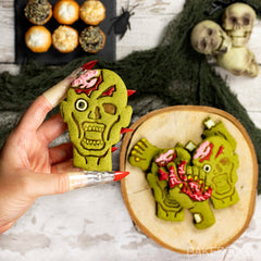 zombie head matcha cookie