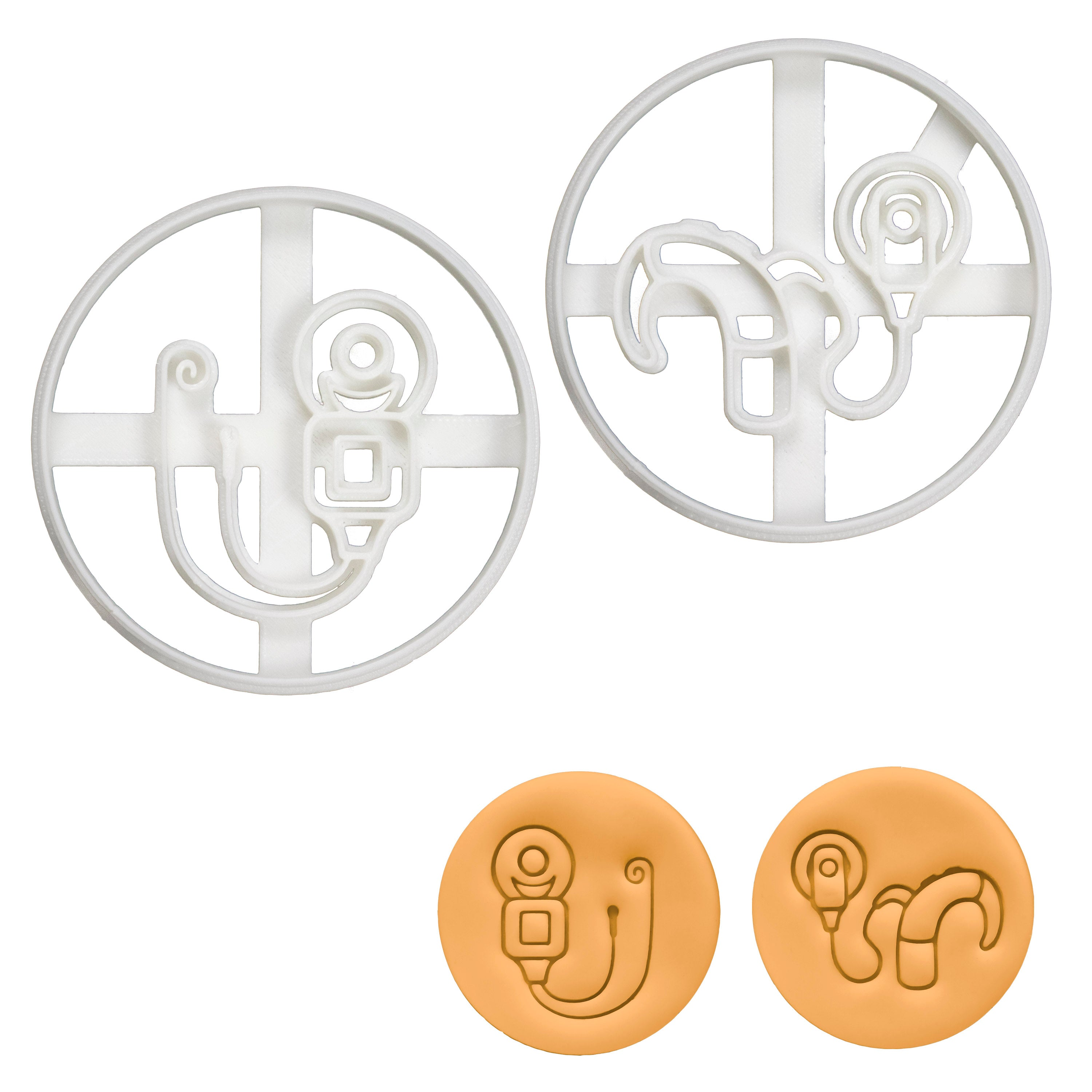Set of 2 Cookie Cutters: Transmitter & Cochlear Implant