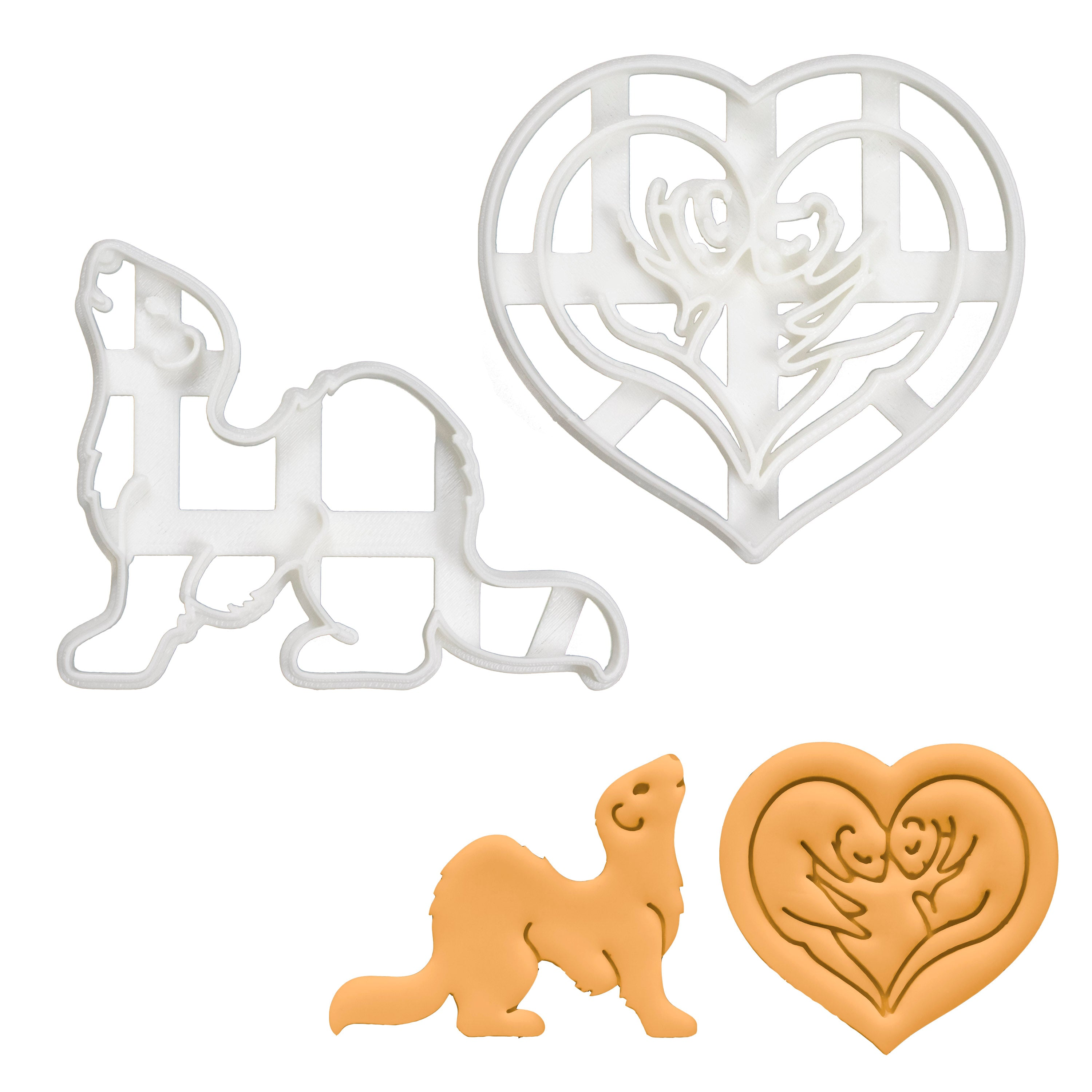 Set of 2 Ferret Cookie Cutters