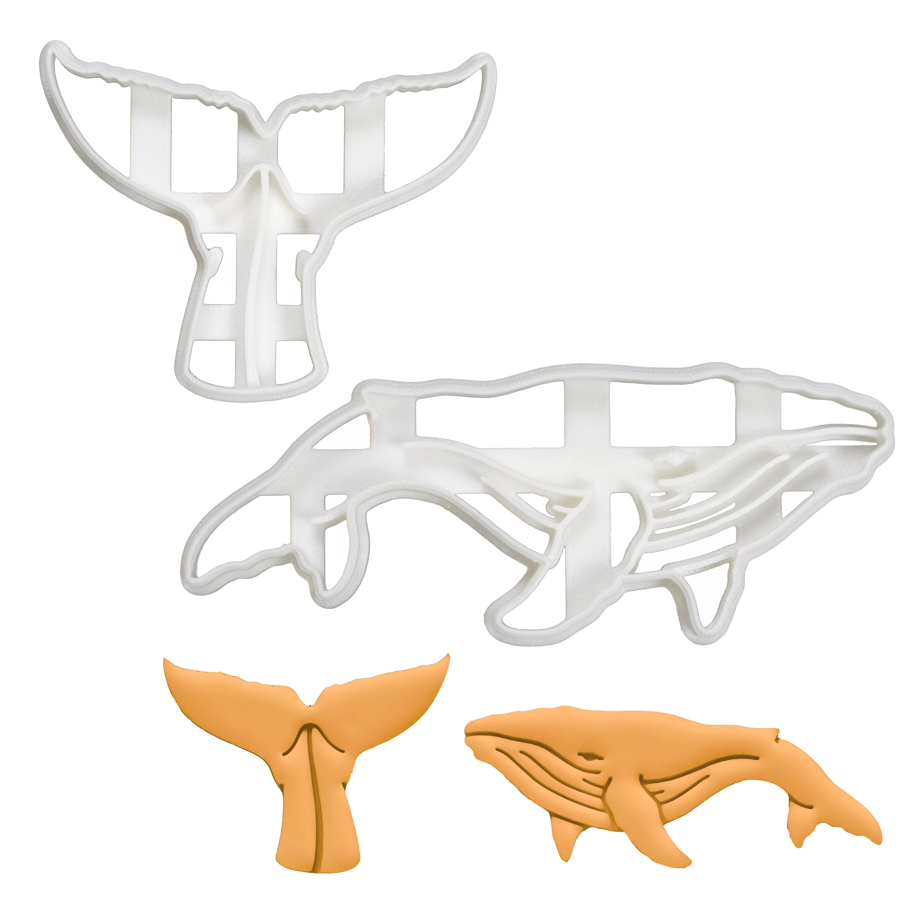 Set of 2 Humpback Whale Cookie Cutters