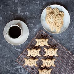 Triple Goddess and Spiral Goddess Cookies