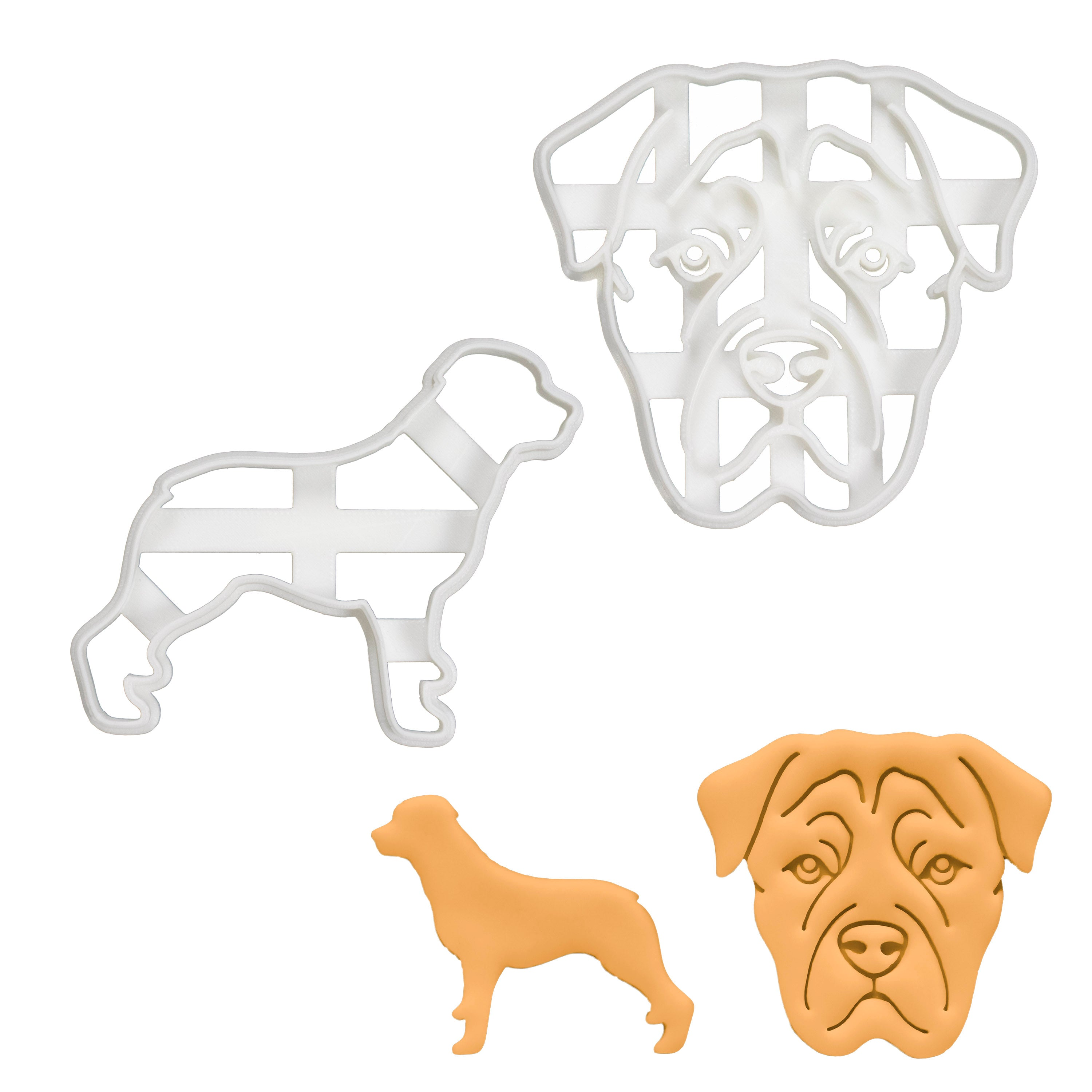 Set of 2 Rottweiler Cookie Cutters
