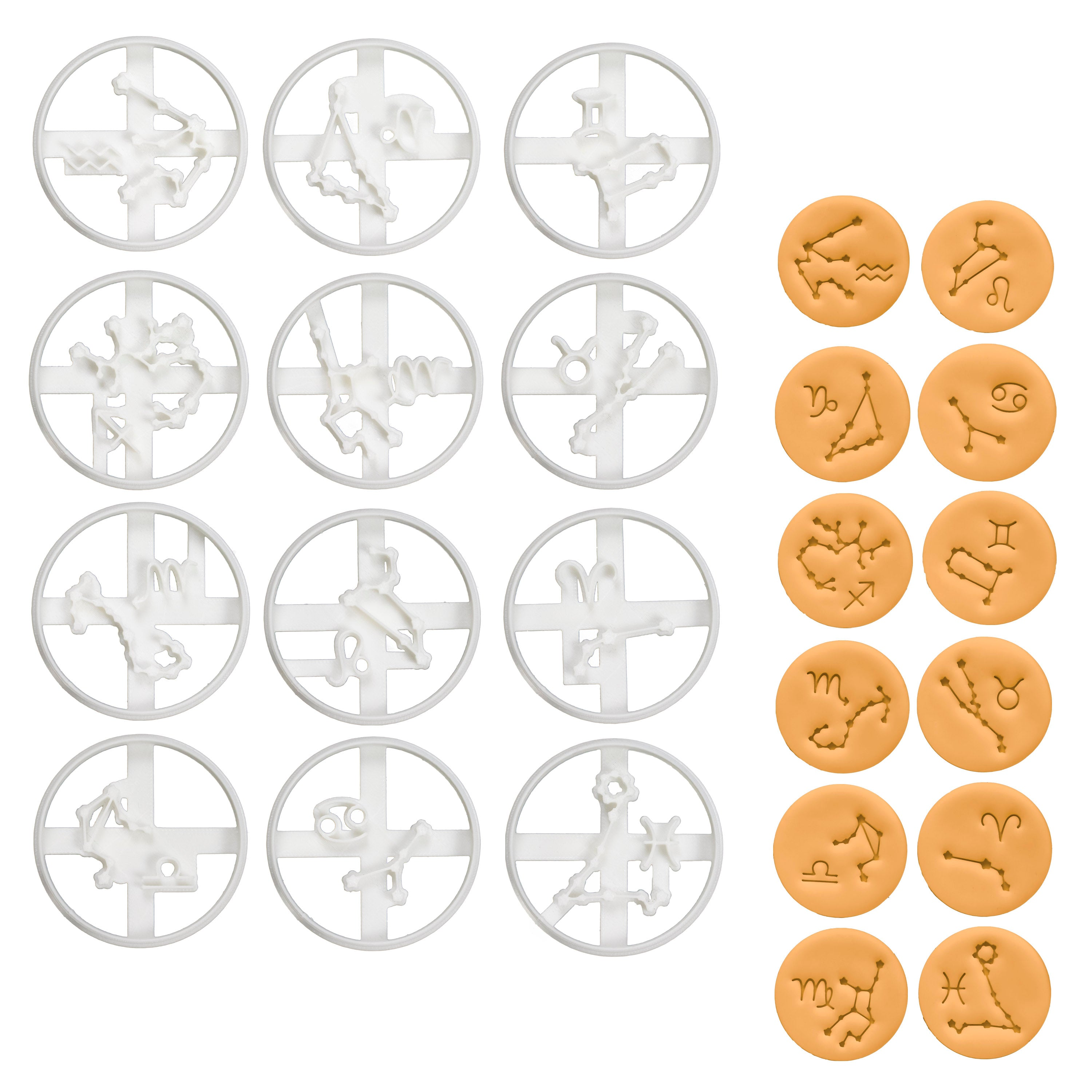 Set of 12 Horoscope Cookie Cutters