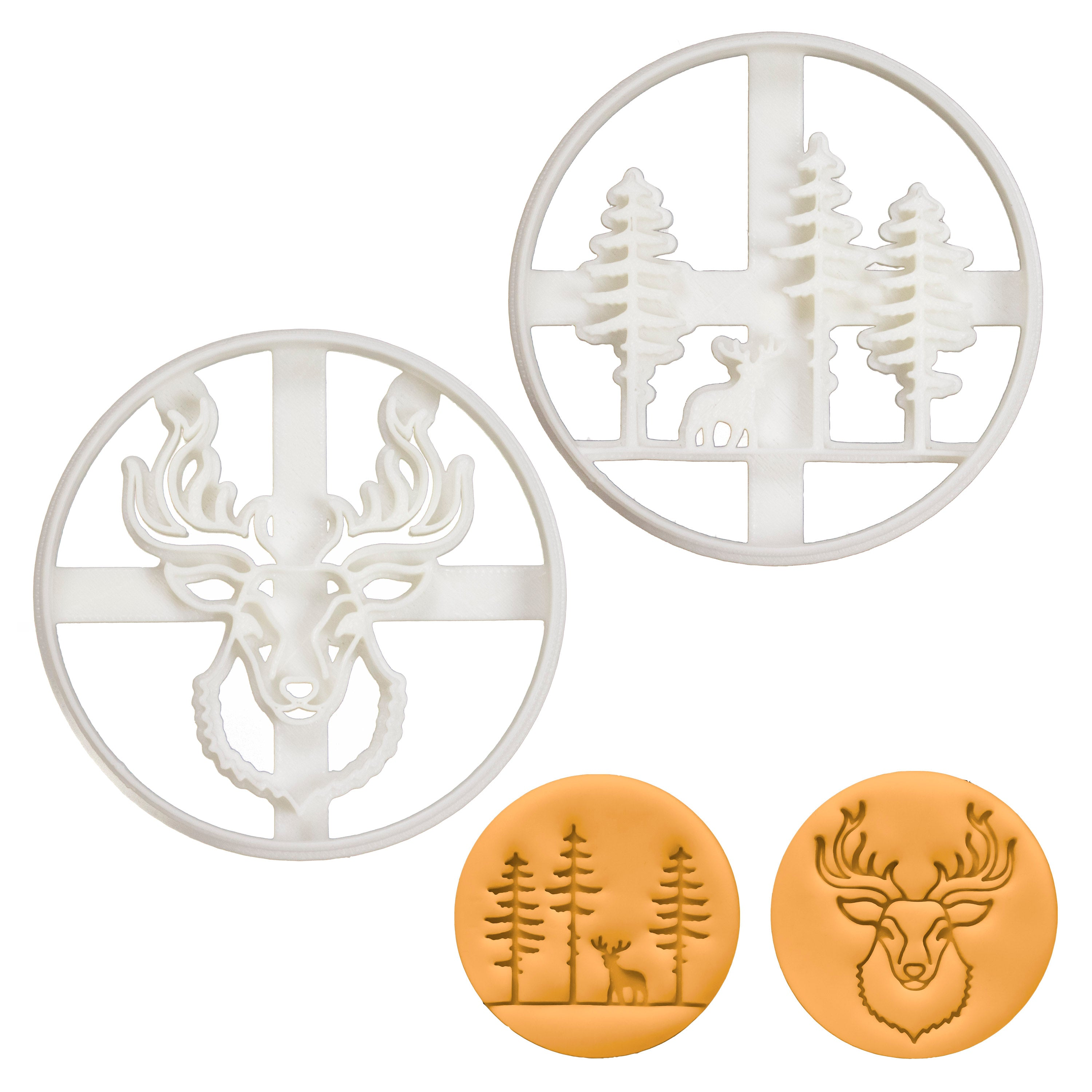 Stag Head and Forest Cookie Cutters