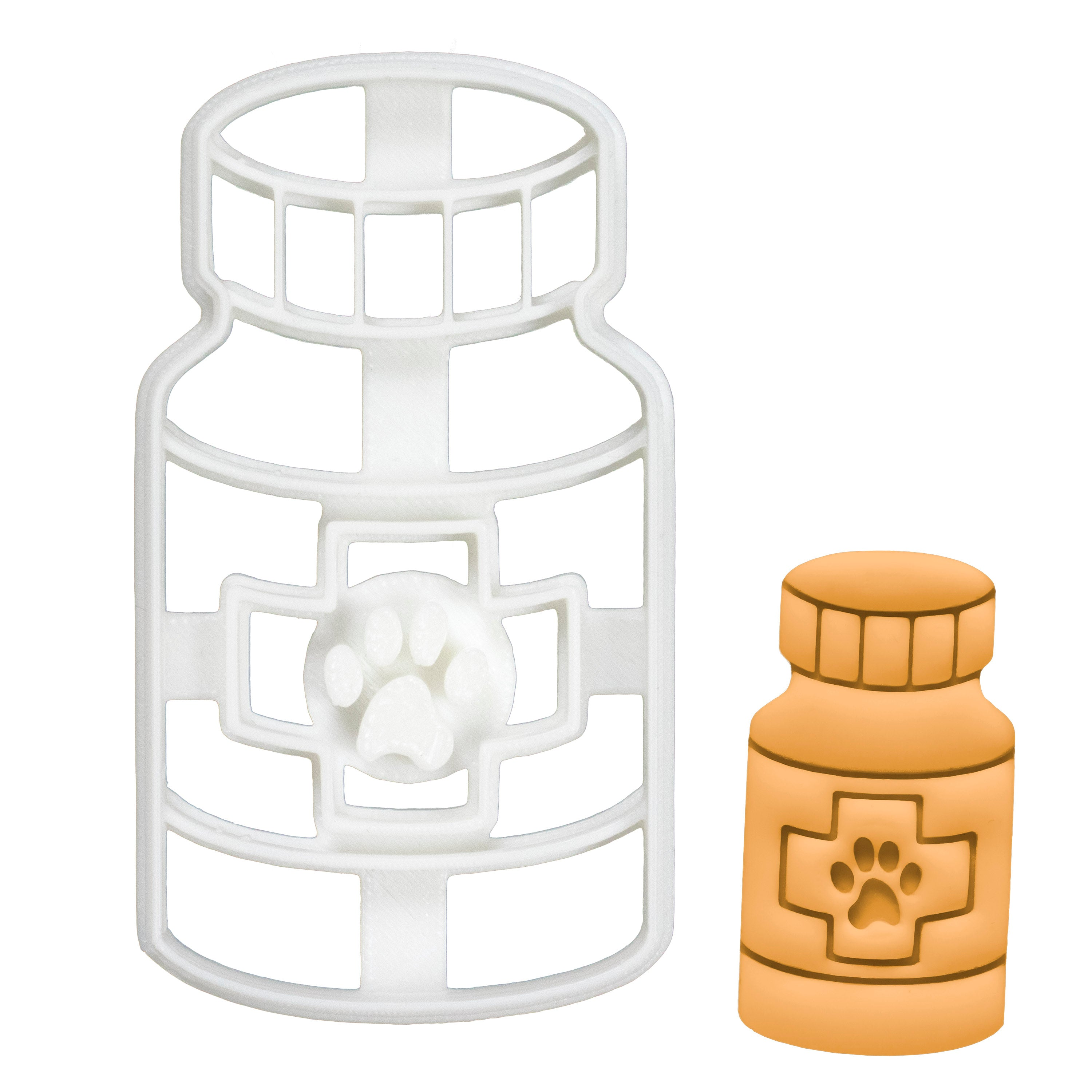Set of 3 Dog Visit Cookie Cutters: Cone of Shame, Bandaged Paw, and Pill Bottle